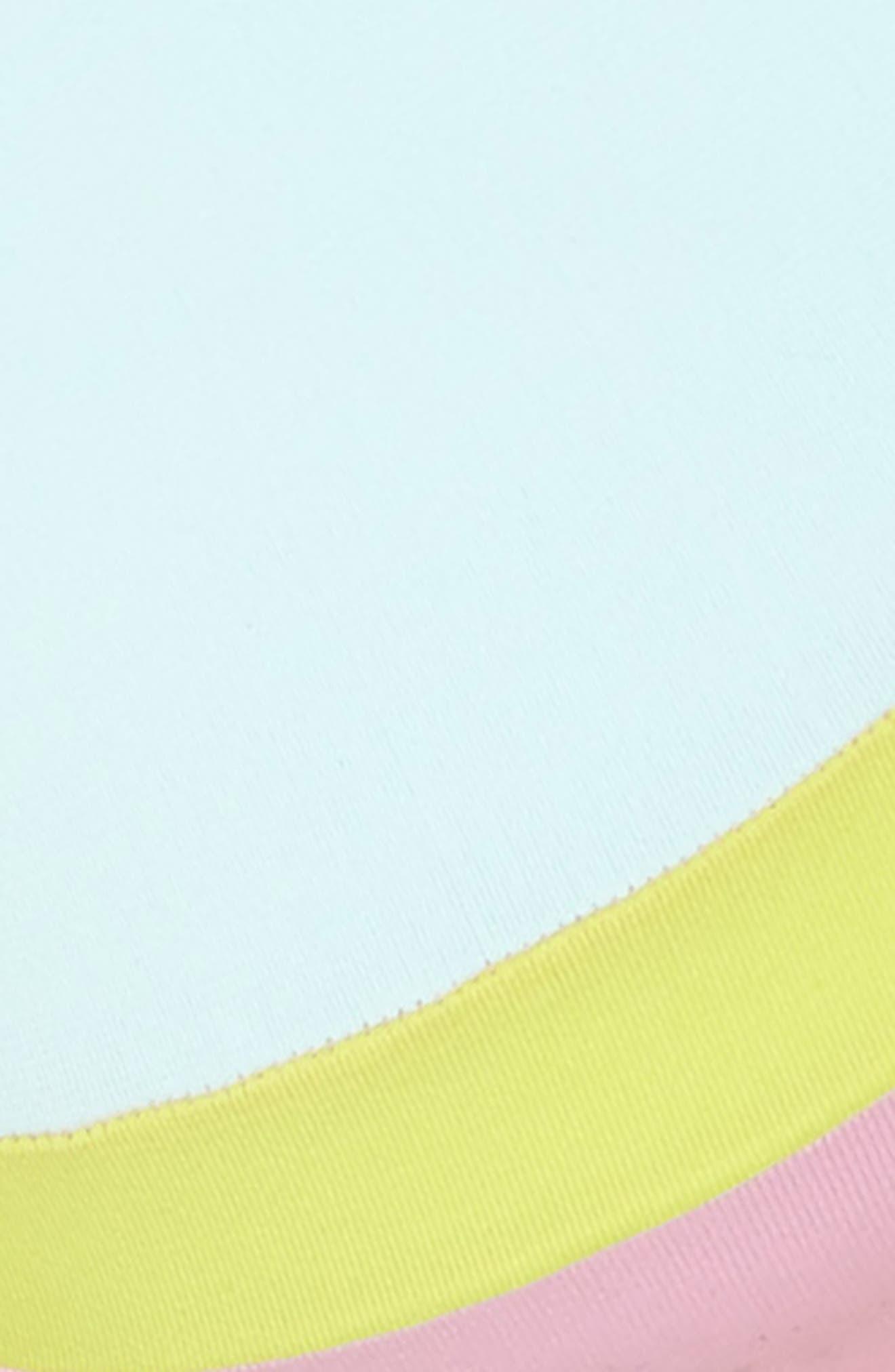 Sporty Utopia Bikini Top,                             Alternate thumbnail 5, color,                             Blue/ Green
