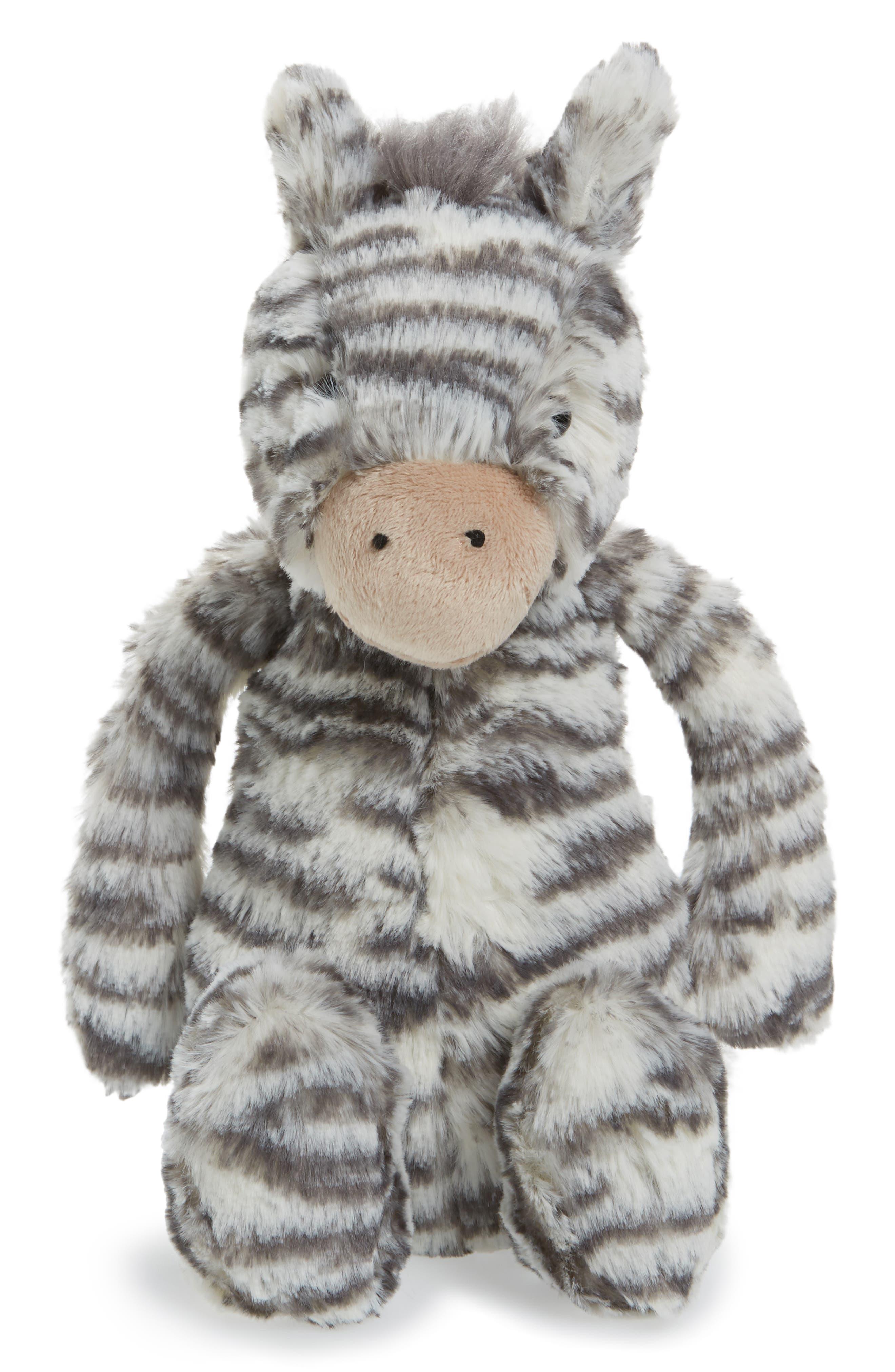 Jellycat Medium Bashful Zebra Stuffed Animal