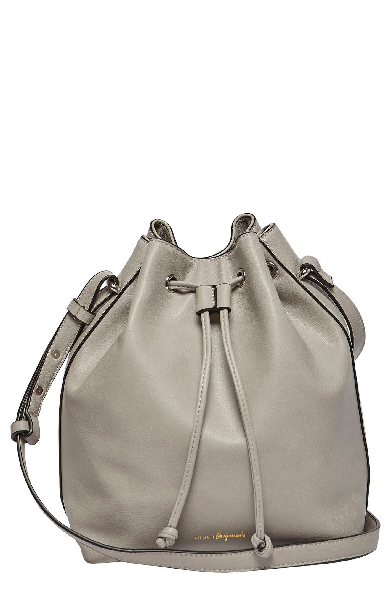 Take Me Home Vegan Leather Bag,                             Main thumbnail 1, color,                             Grey Battleship