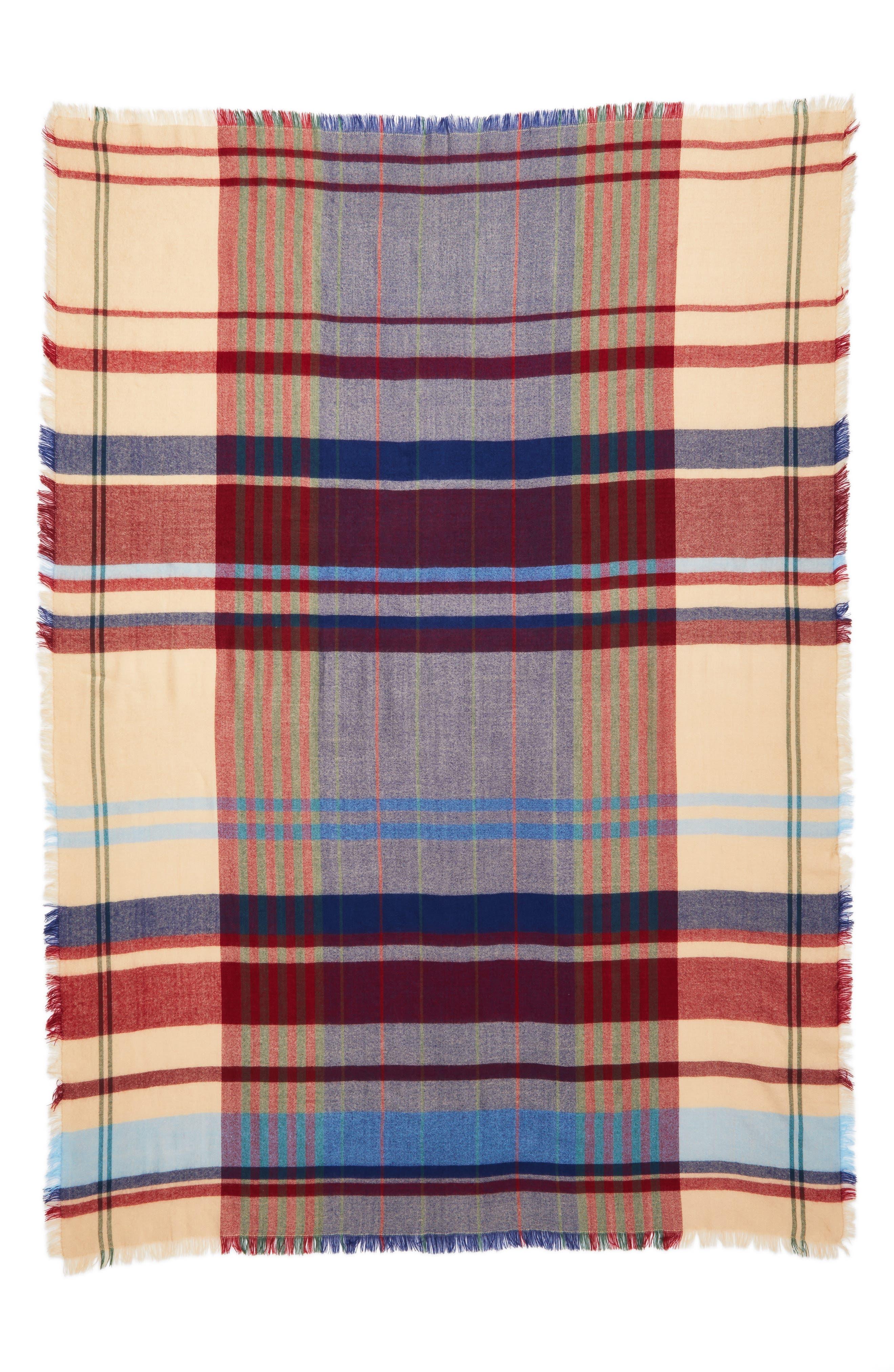 Alternate Image 6  - Treasure & Bond Heritage Plaid Blanket Wrap
