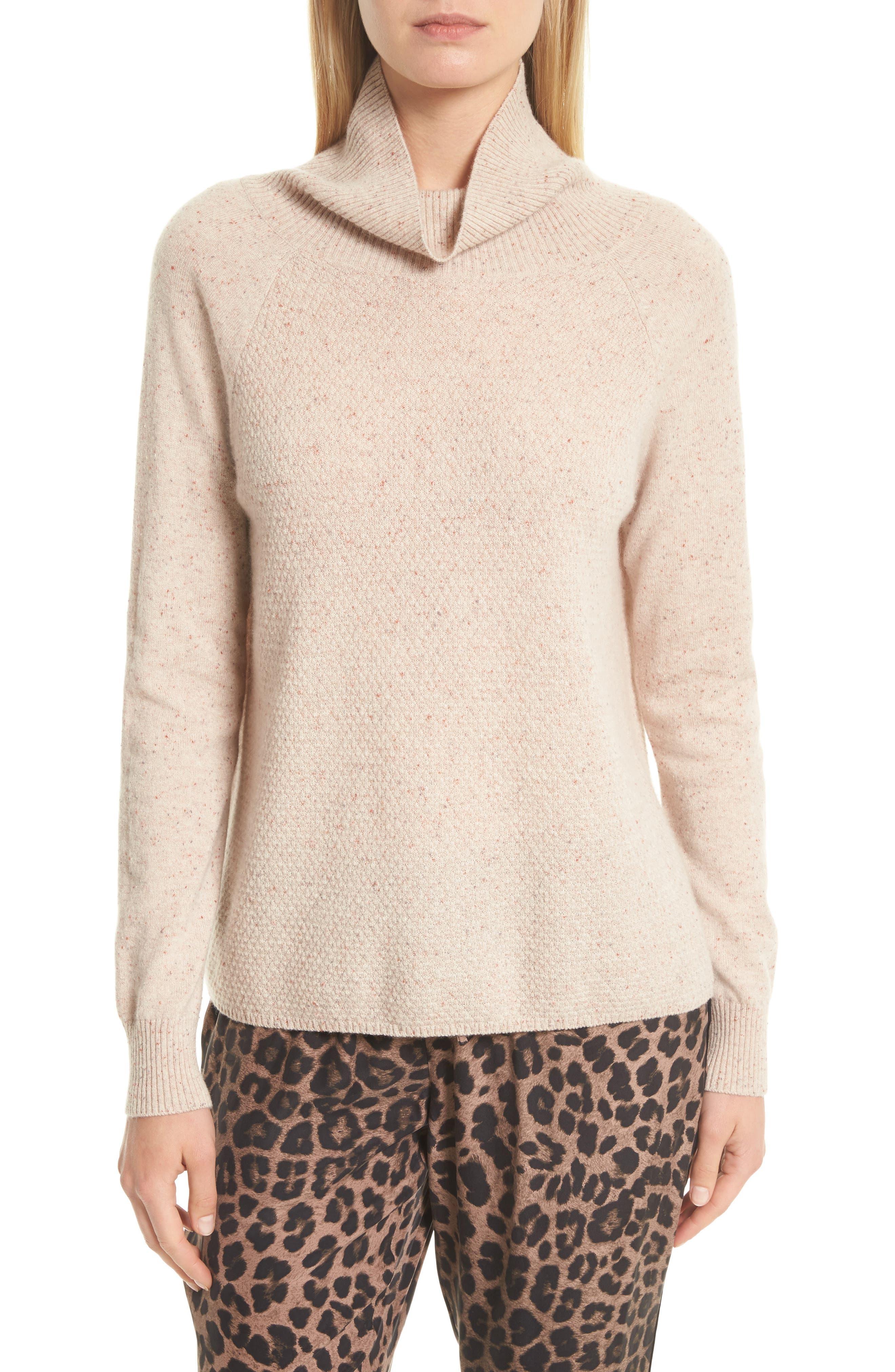 Havin Cashmere Sweater,                         Main,                         color, Heather Cream Rose
