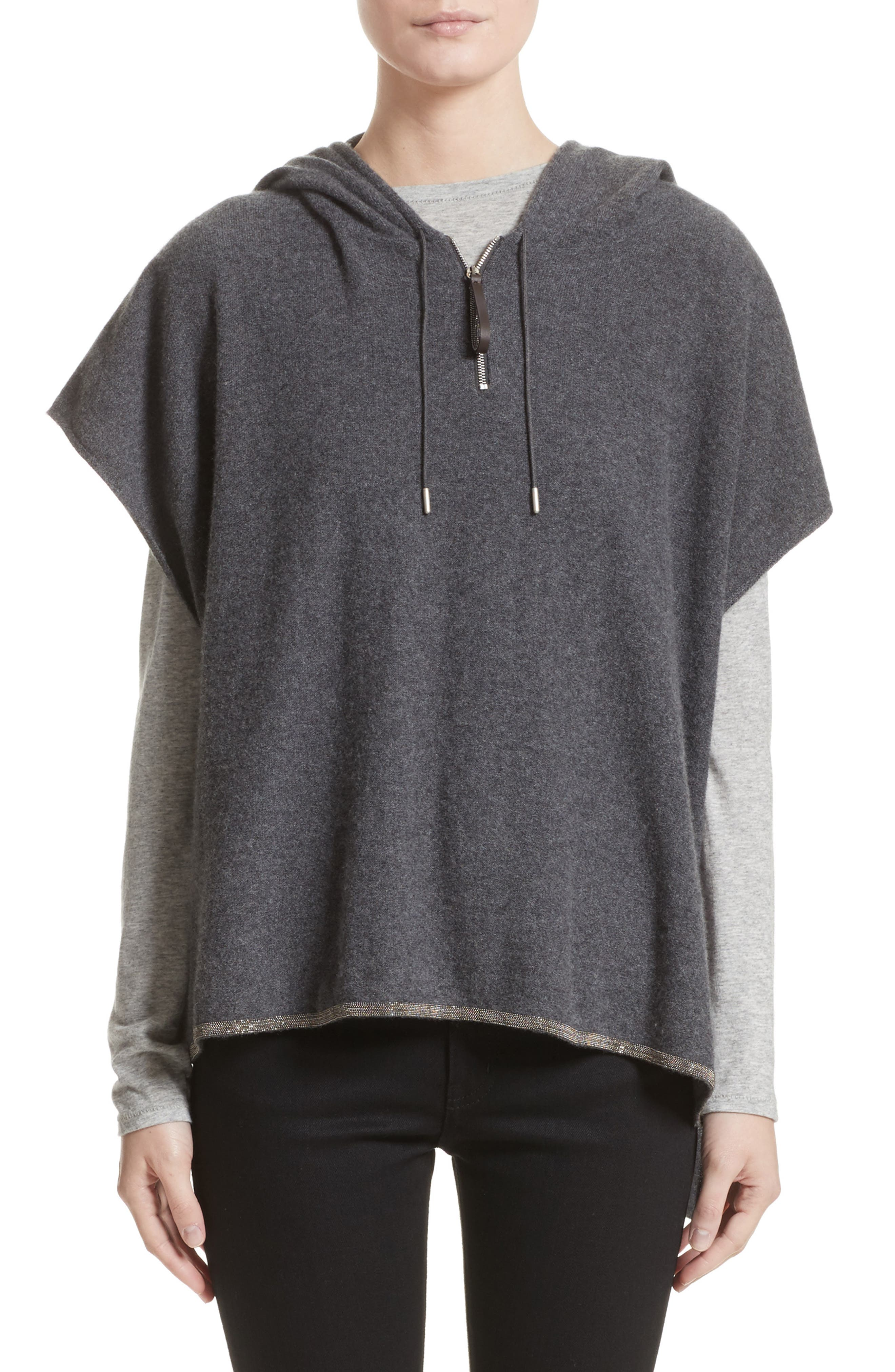 Fabiana Filippi Cashmere Hooded Poncho (Nordstrom Exclusive)