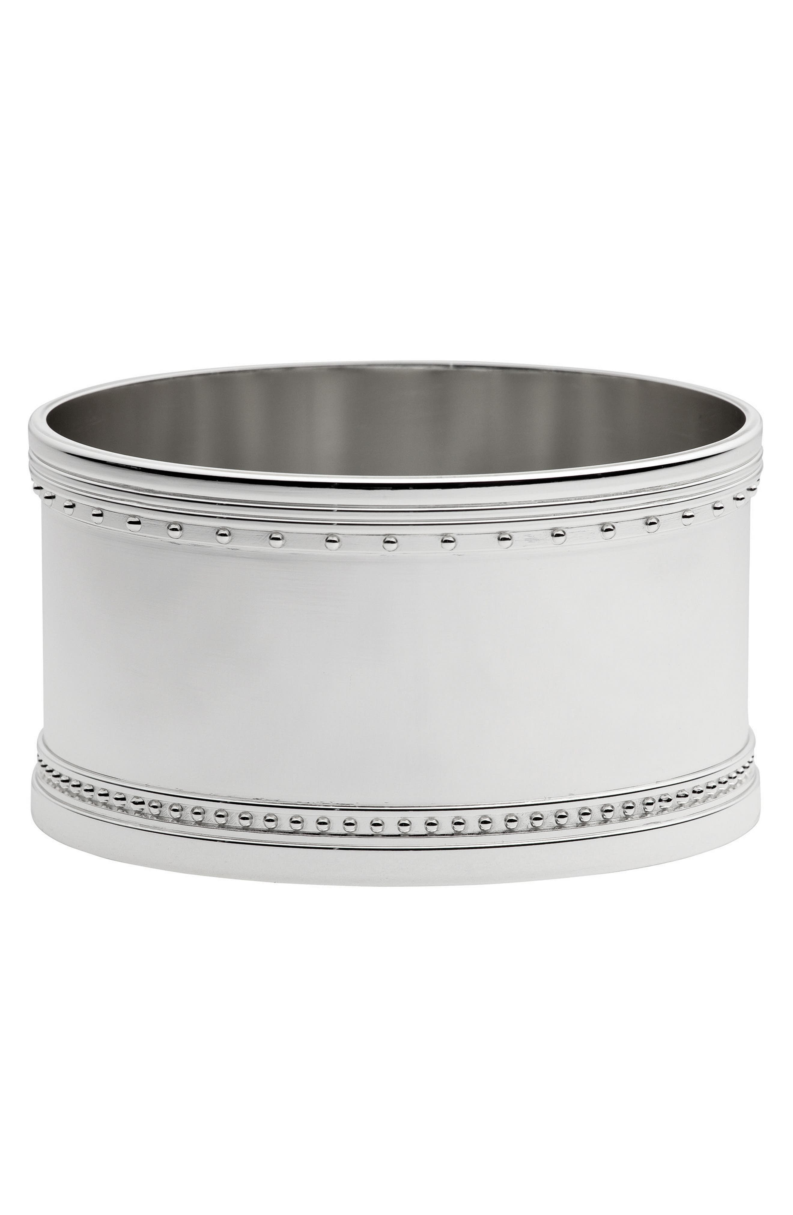 x Wedgwood Grosgrain Silver Plated Wine Coaster,                         Main,                         color, Metallic Silver