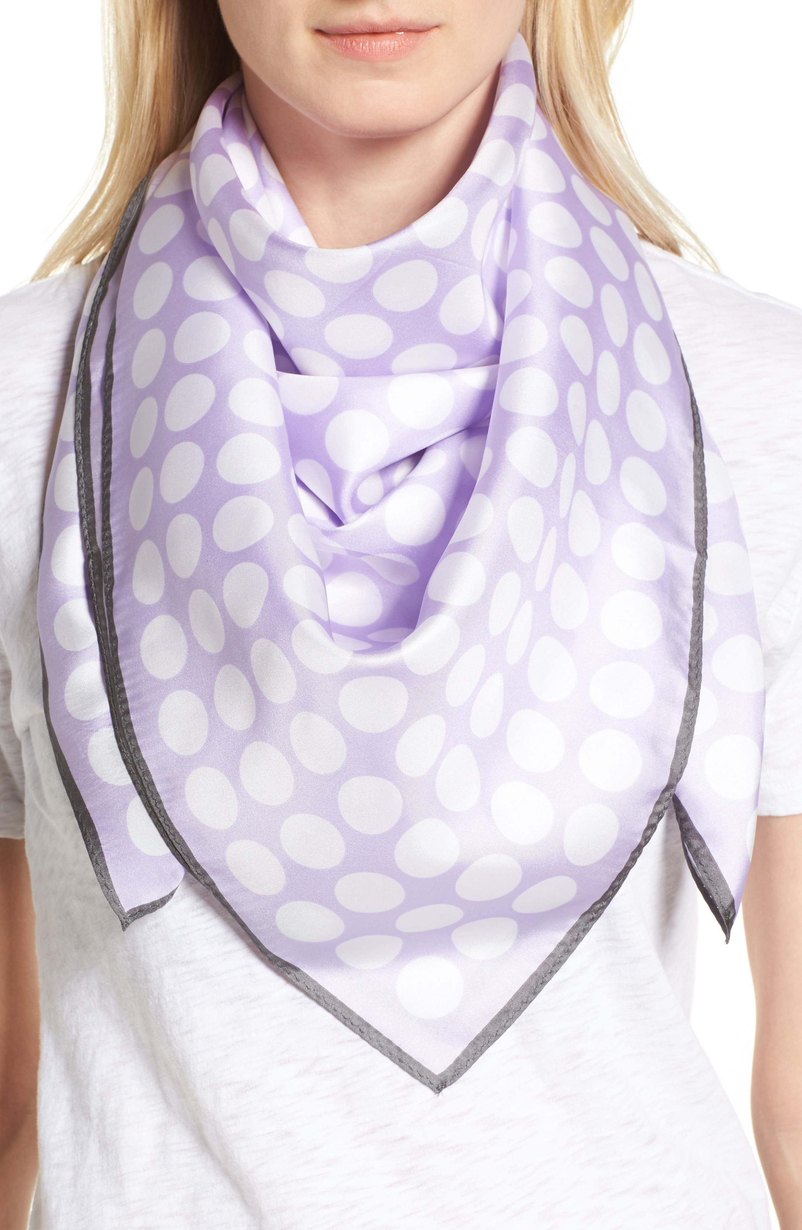 ECHO Polk Dot Square Silk Scarf