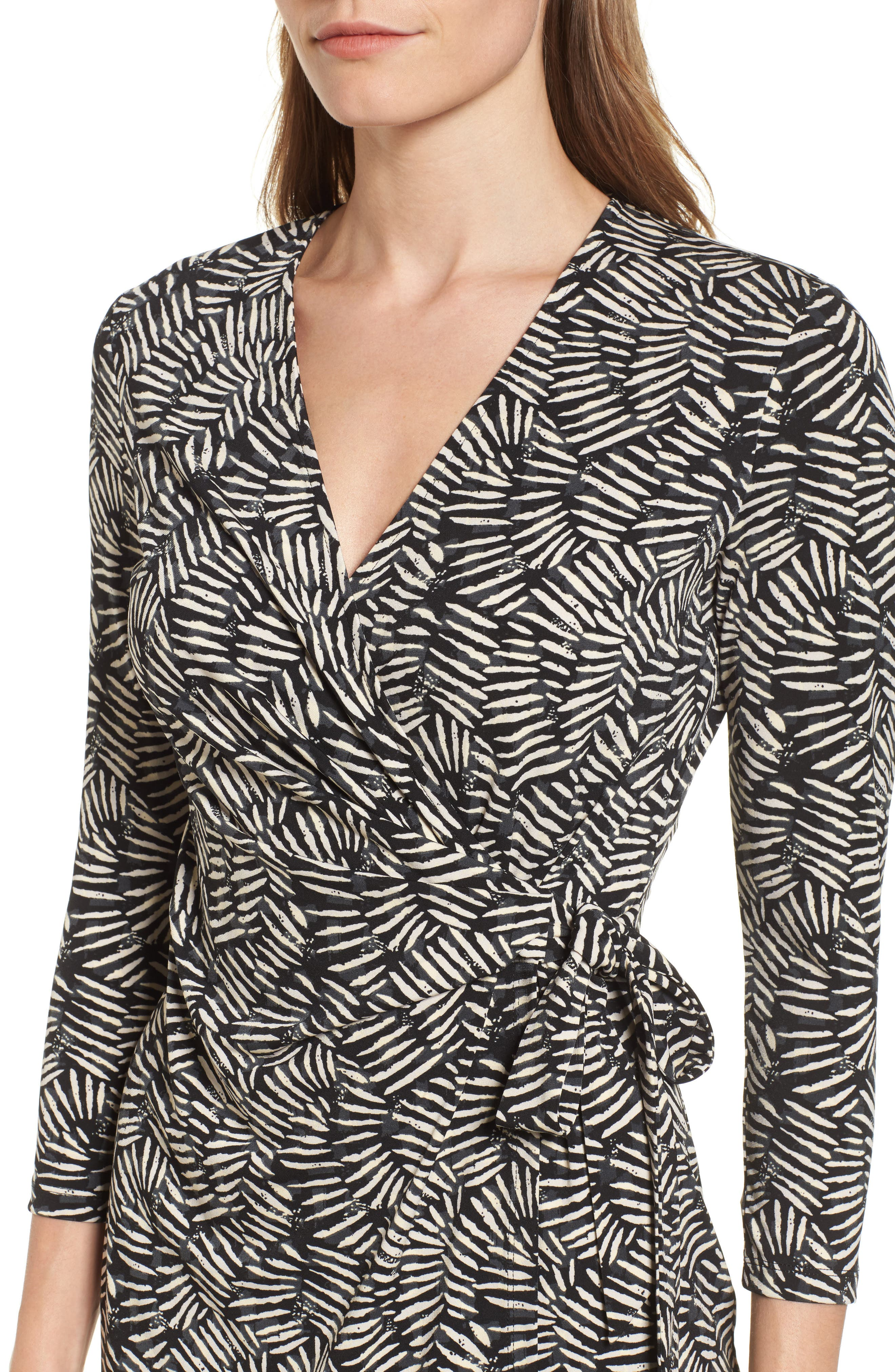 Alternate Image 4  - Anne Klein Print Wrap Dress