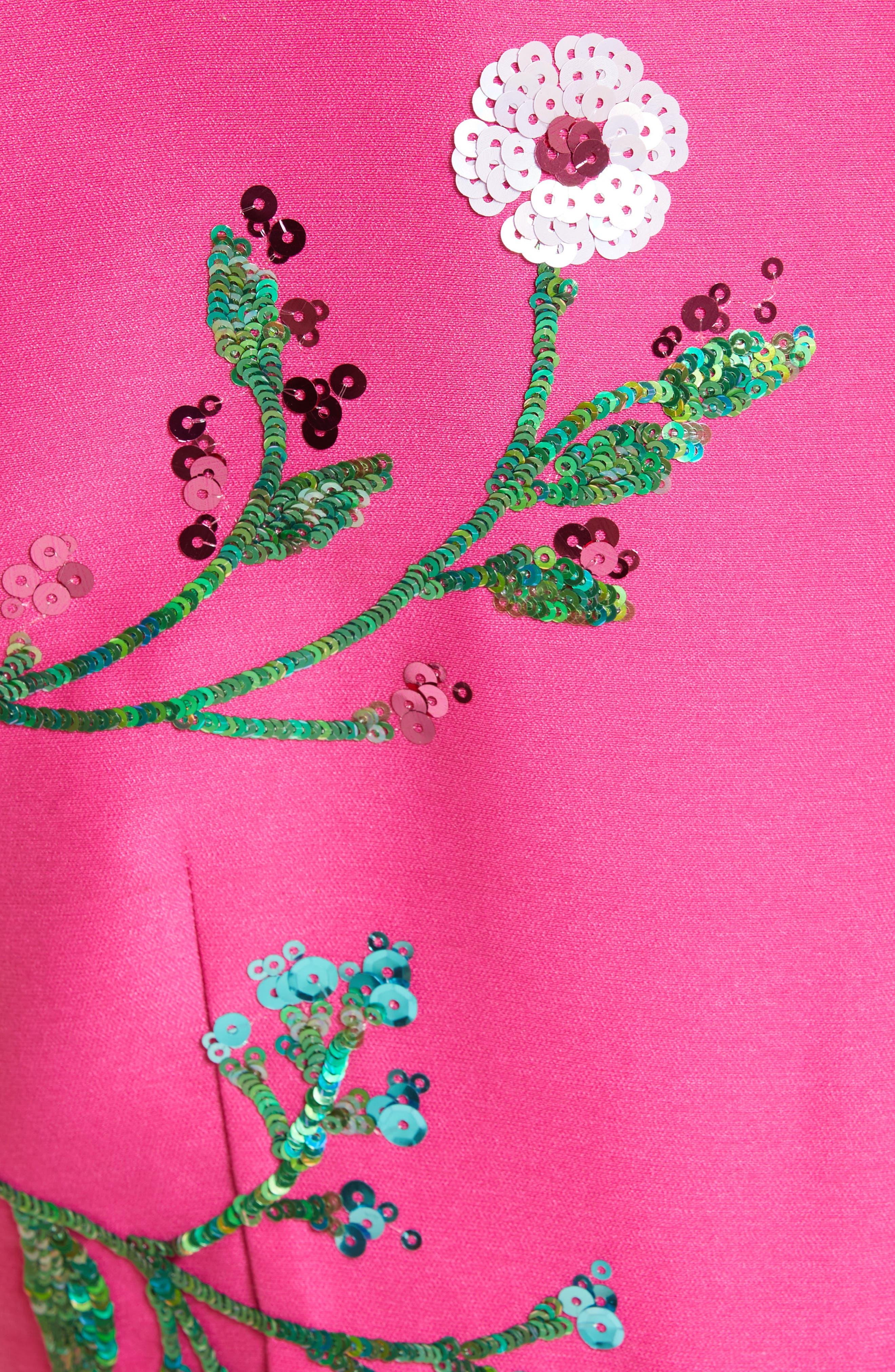 Alternate Image 4  - kate spade new york floral embellished fit & flare dress