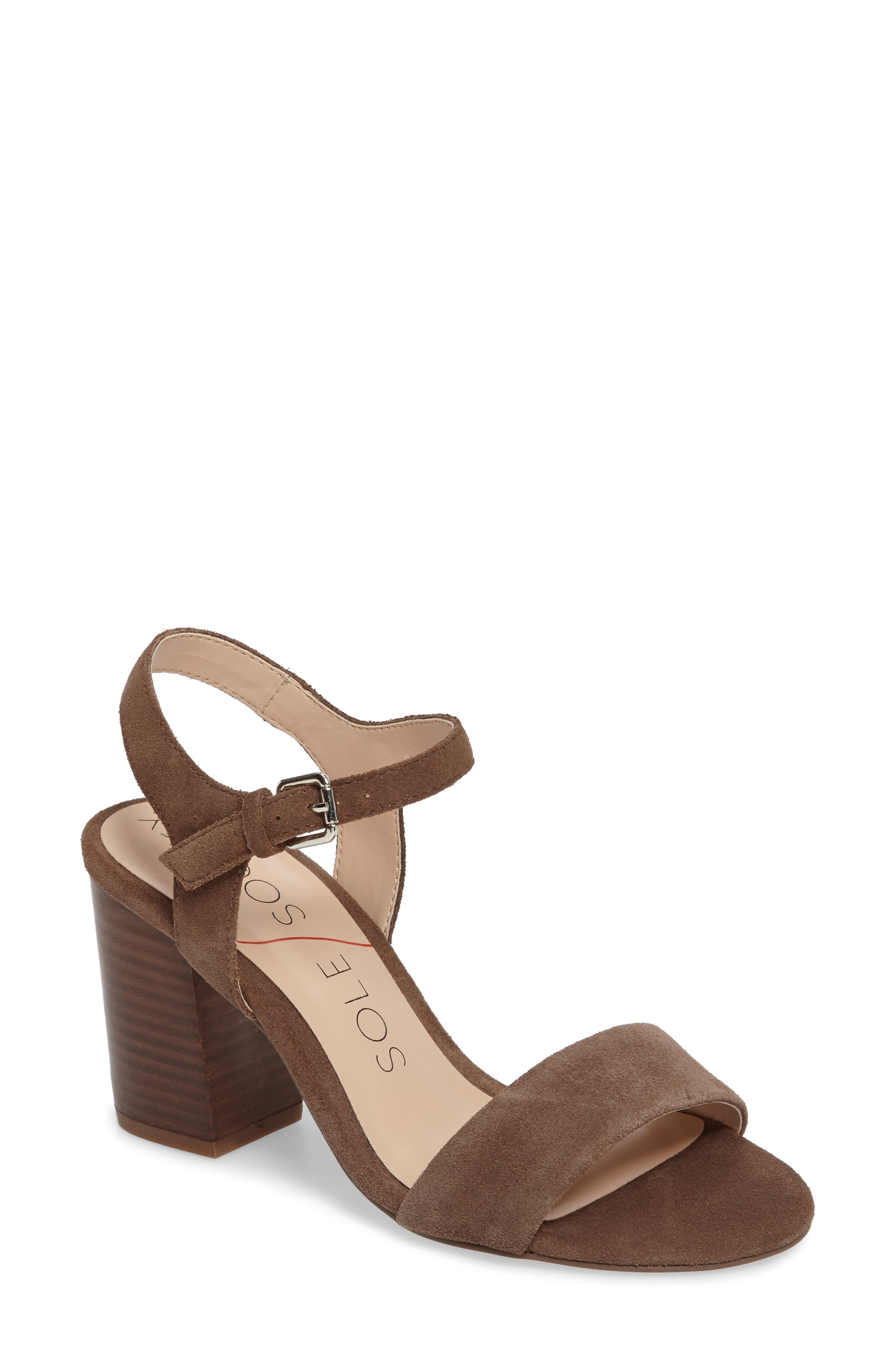 Main Image - Sole Society 'Linny' Ankle Strap Sandal (Women)