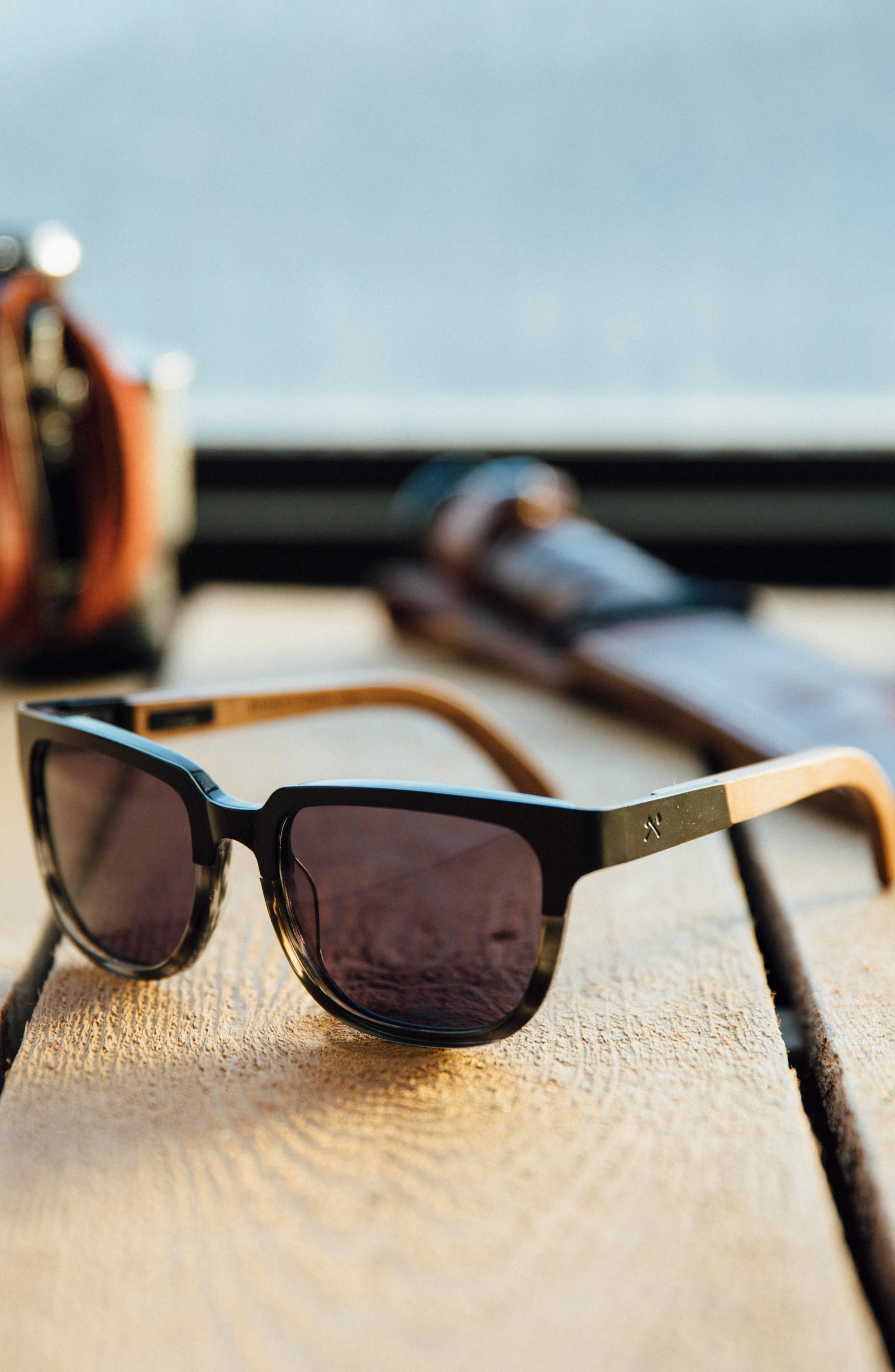 Alternate Image 3  - Shwood 'Prescott' 52mm Titanium & Wood Sunglasses