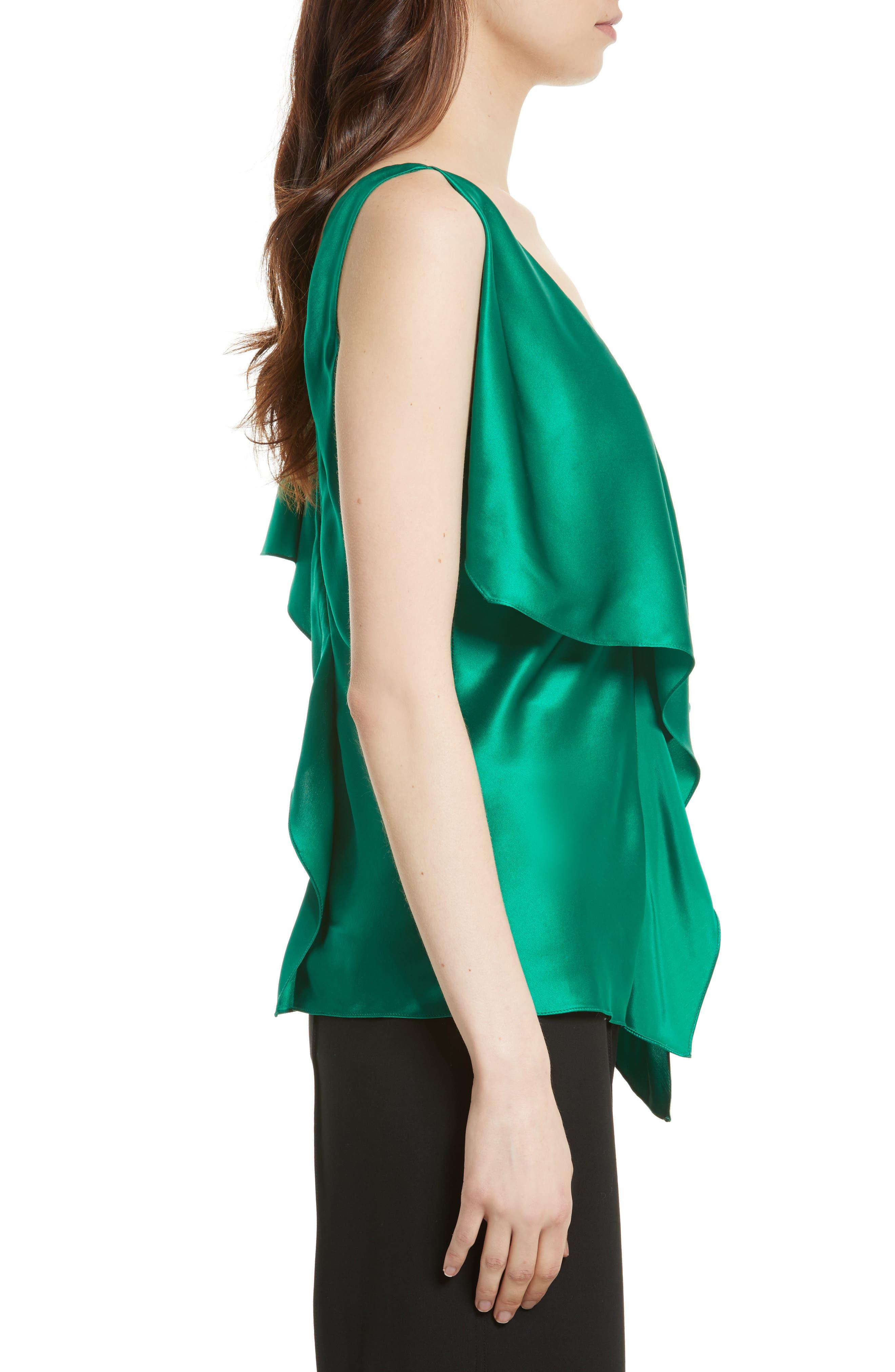 Alternate Image 3  - Diane von Furstenberg Asymmetrical Sleeve Ruffle Blouse