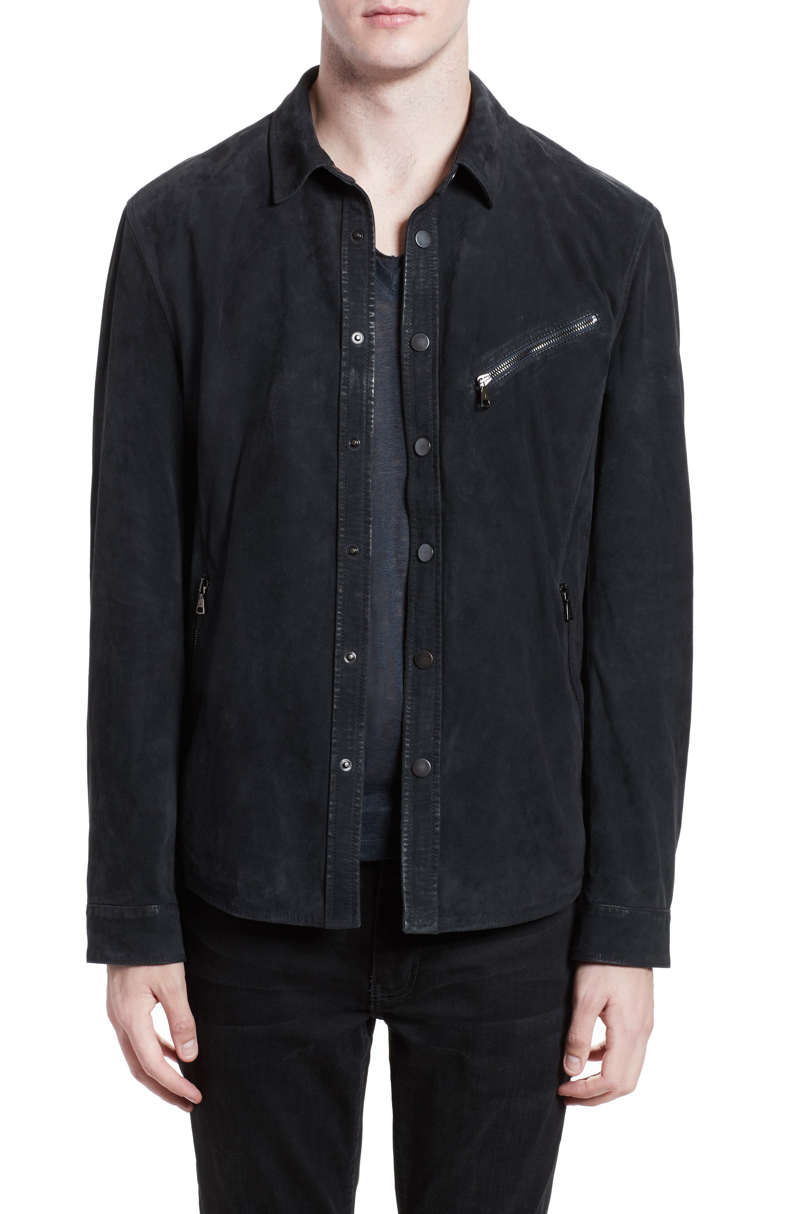 JOHN VARVATOS COLLECTION John Varvatos Suede Shirt Jacket