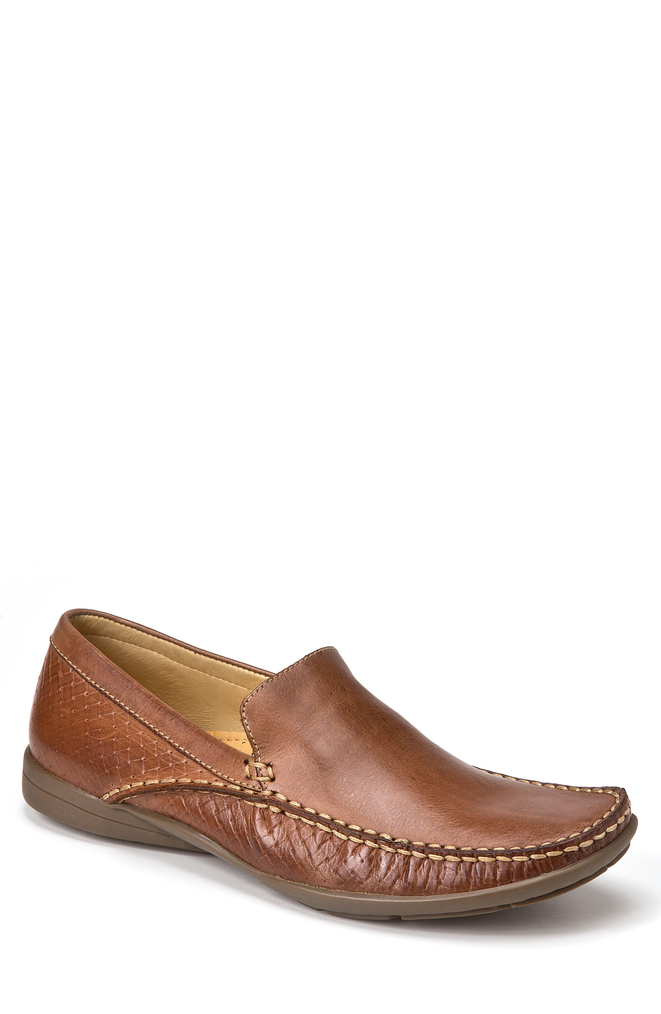 Dudley Moc Toe Loafer,                             Main thumbnail 1, color,                             Tan Leather