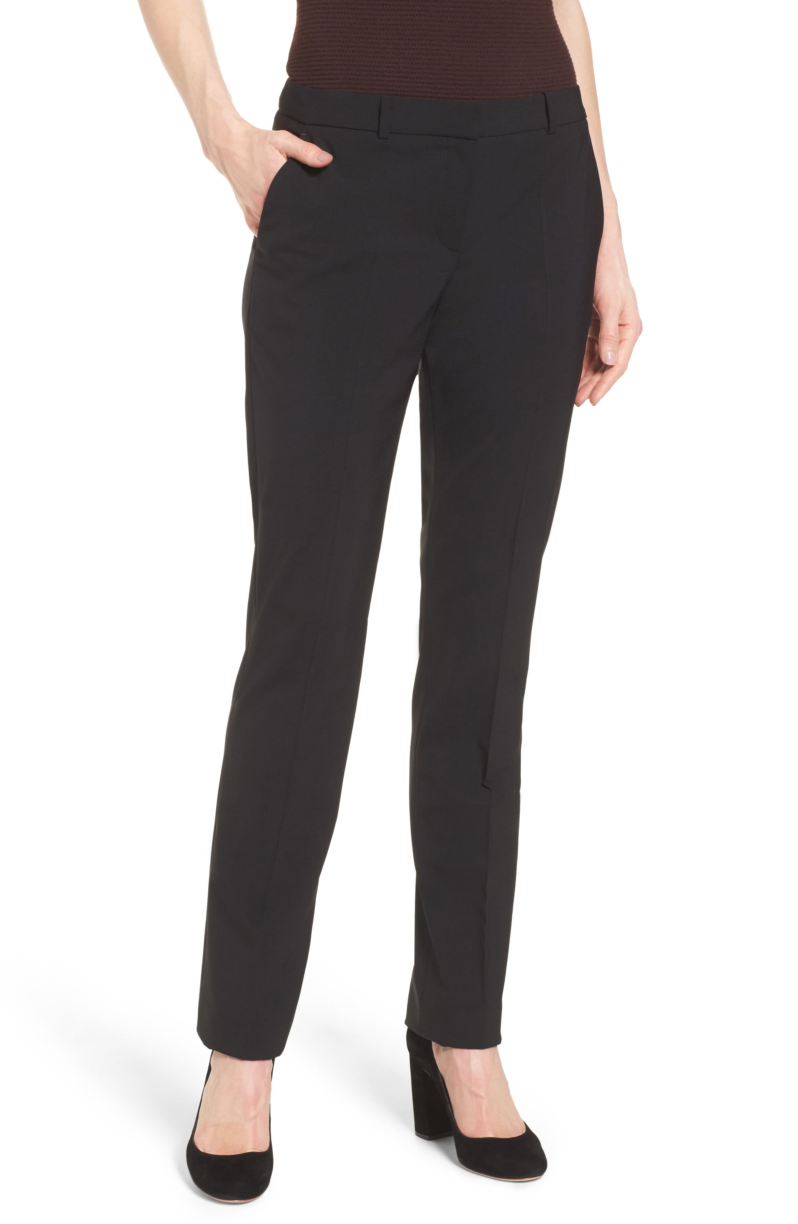 BOSS Titana Stretch Wool Suit Trousers