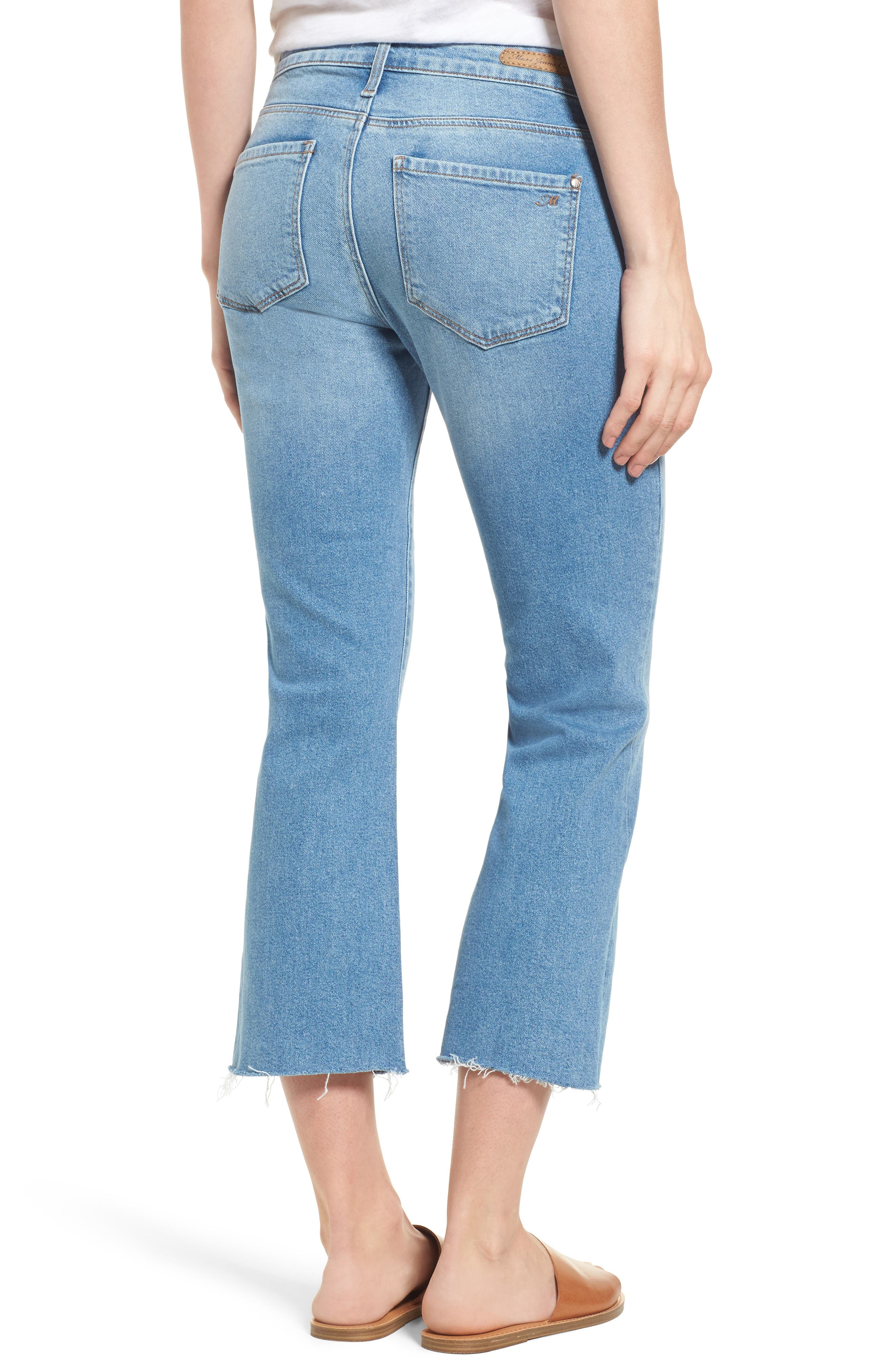 Anika Stretch Crop Jeans,                             Alternate thumbnail 2, color,                             Light Used Retro
