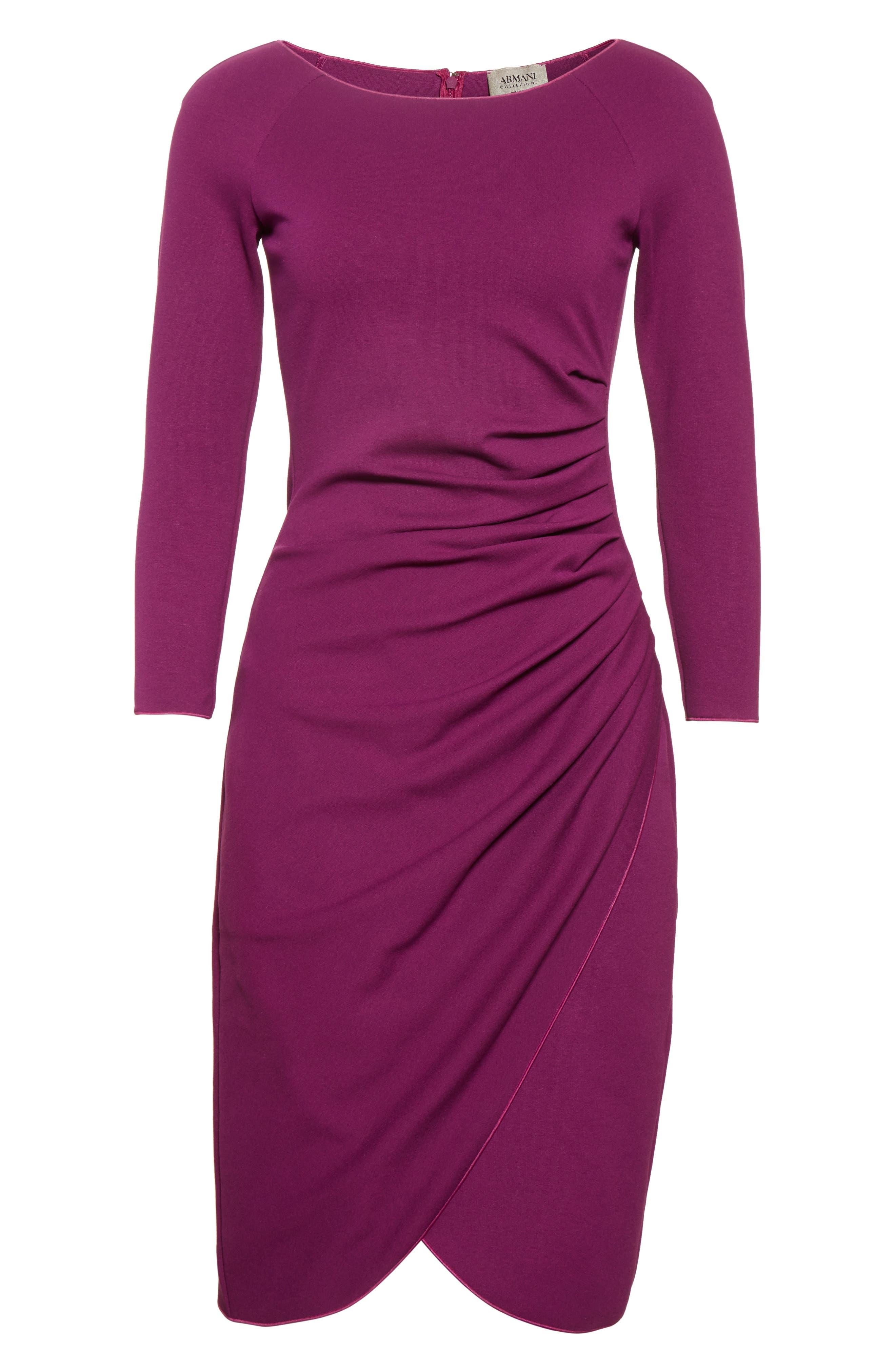 Alternate Image 4  - Armani Collezioni Milano Jersey Petal Hem Dress (Nordstrom Exclusive)
