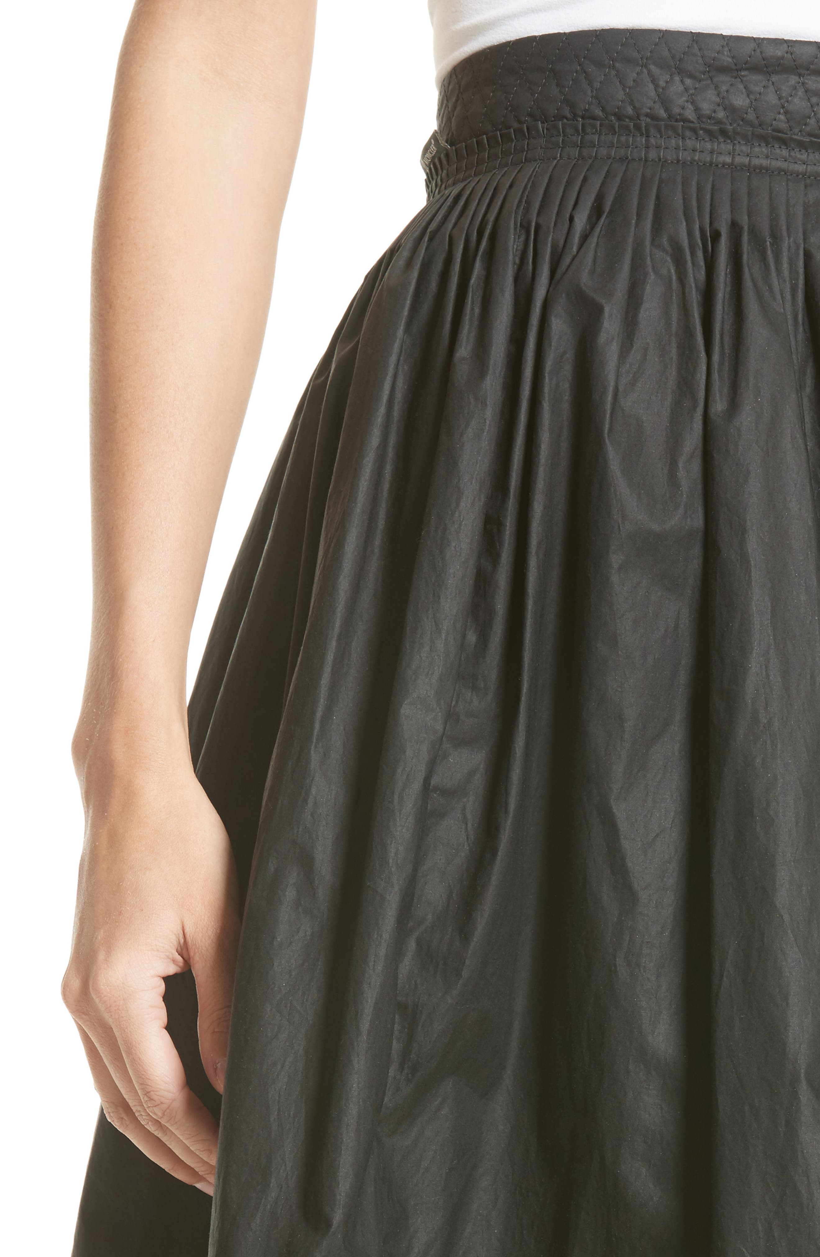 Alternate Image 4  - Moncler Gonna Cotton A-Line Skirt