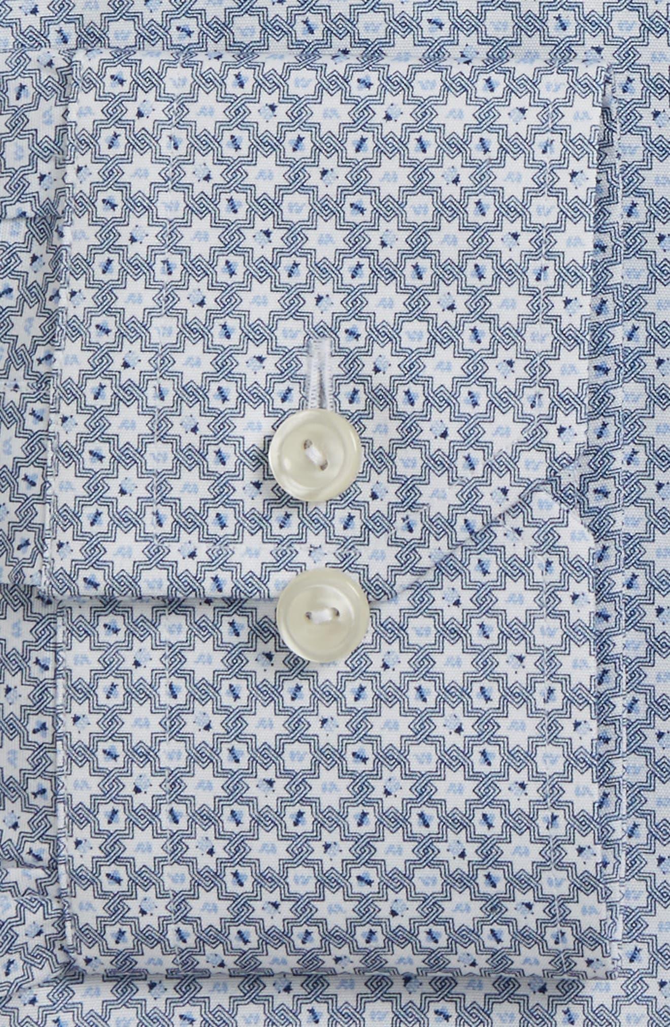 Alternate Image 2  - Eton Slim Fit Print Dress Shirt