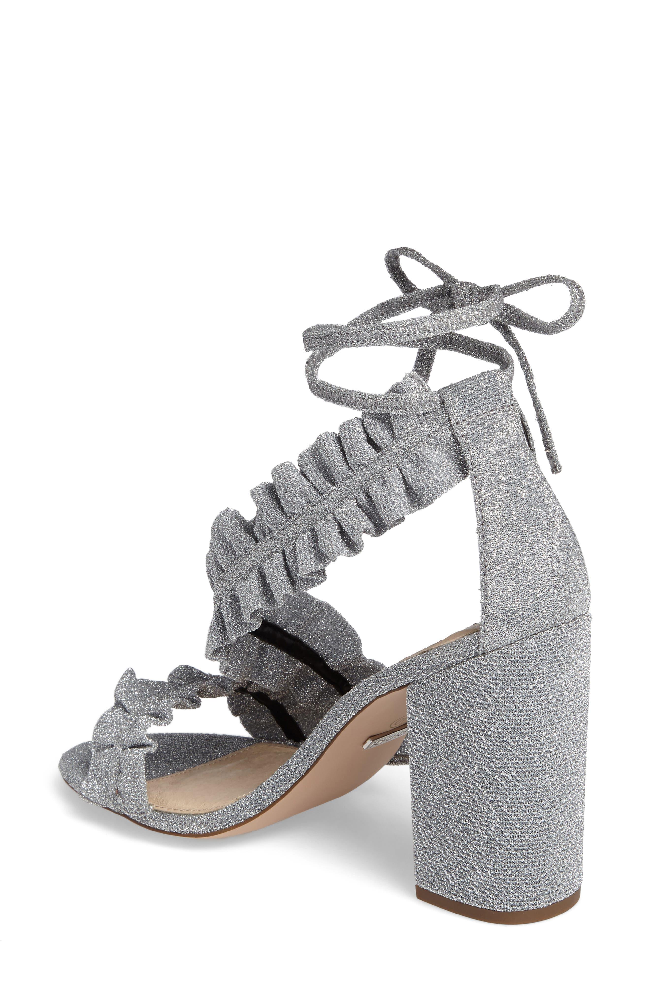Alternate Image 2  - Topshop Real Asymmetrical Ruffled Sandal (Women)