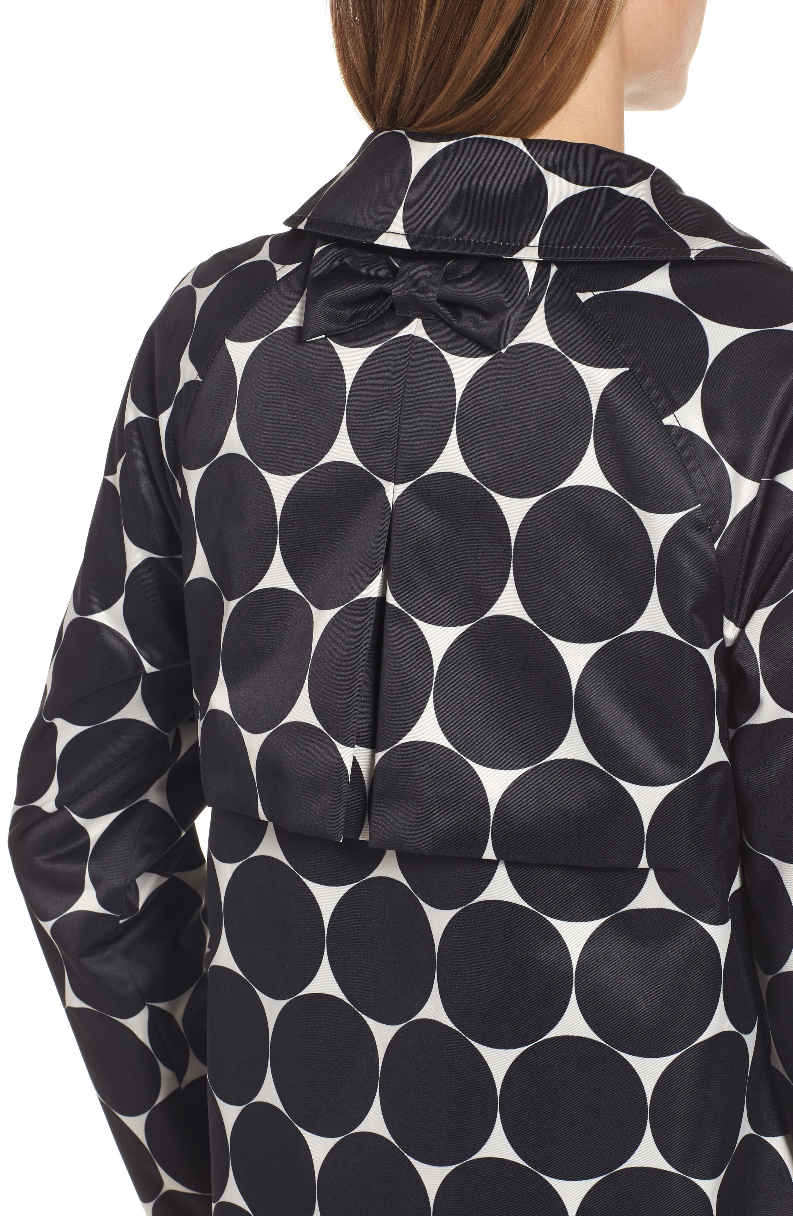 dot print raincoat,                             Alternate thumbnail 4, color,                             Dl Dot Cream/ Black