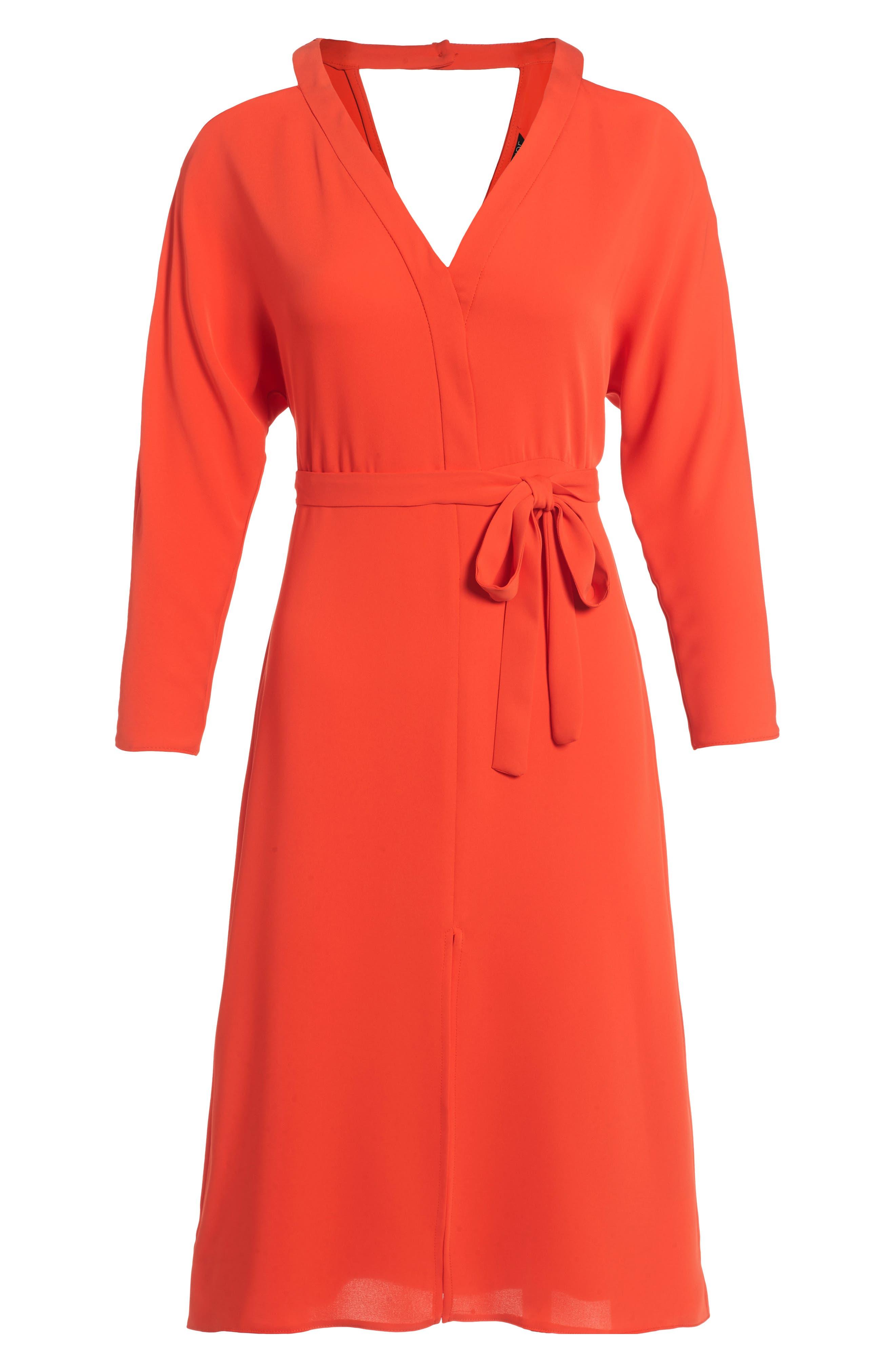 Main Image - Topshop Cutout Cold Shoulder Dress