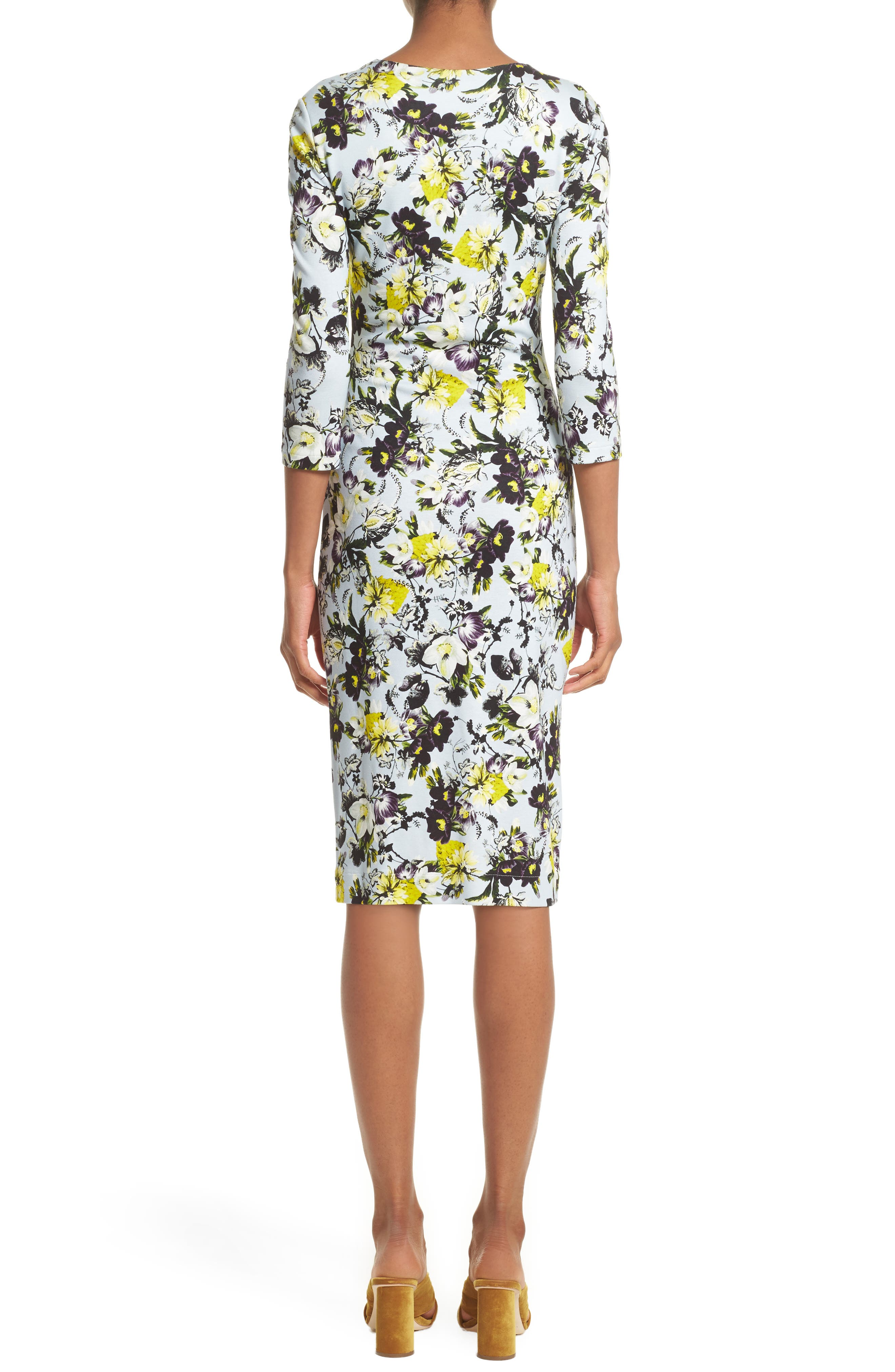 Alternate Image 2  - Erdem Floral Jersey Sheath Dress