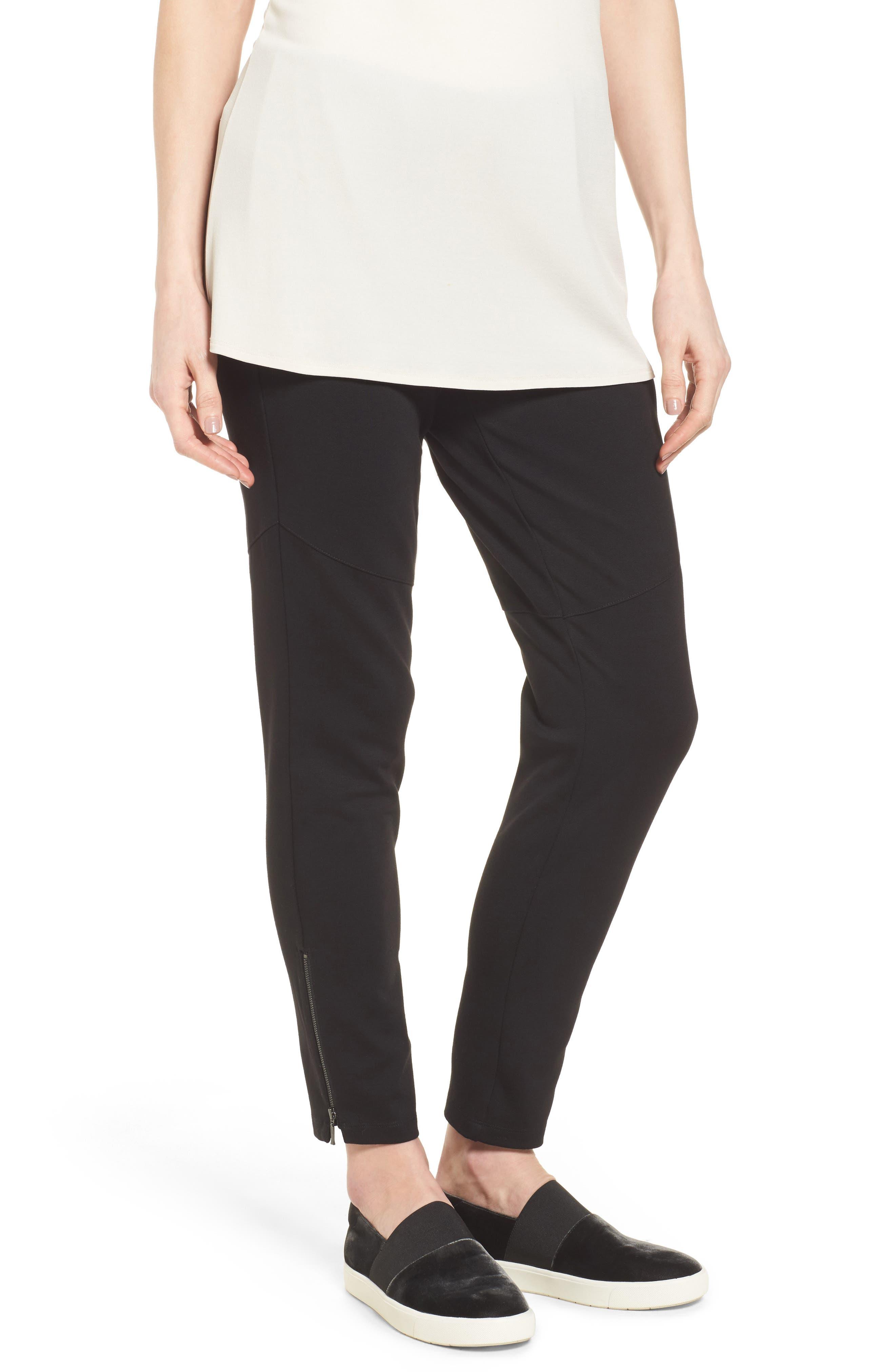 Main Image - Eileen Fisher Moto Pants (Regular & Petite)