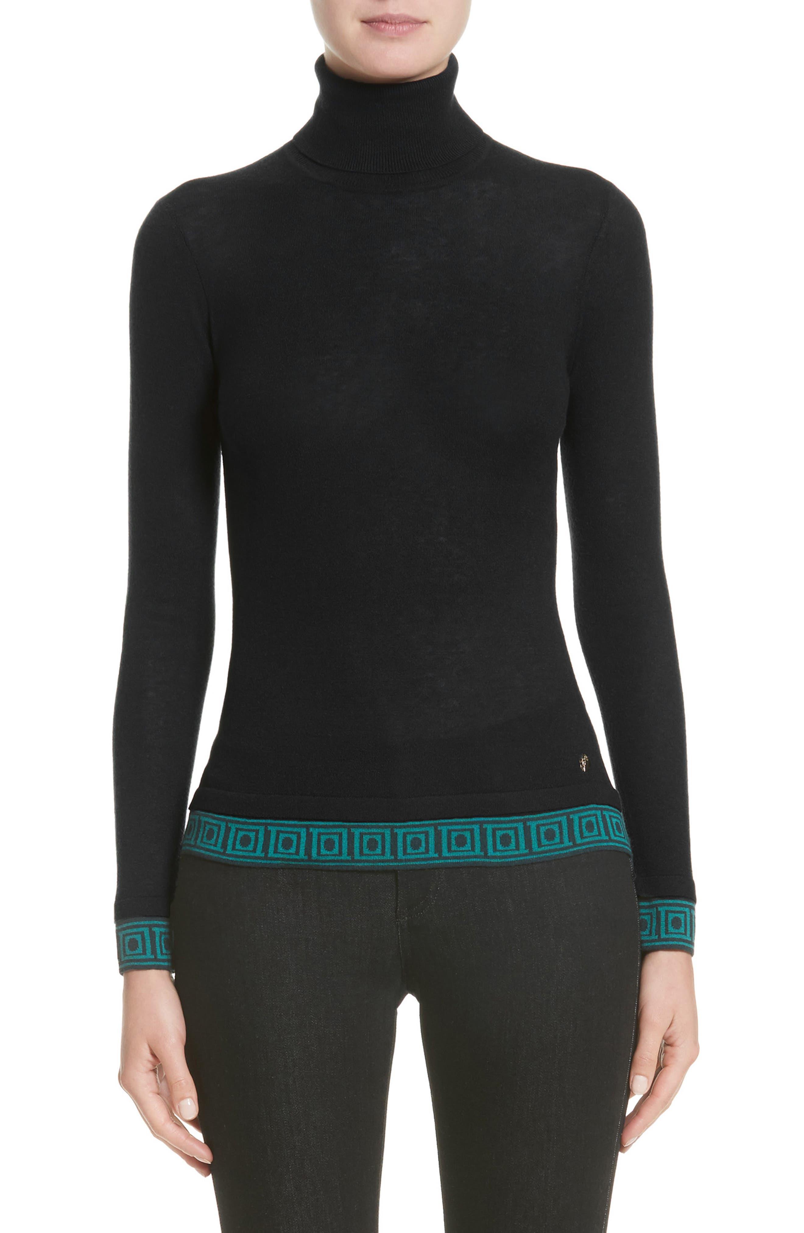 Collection Turtleneck Sweater,                         Main,                         color, Black/ Oil