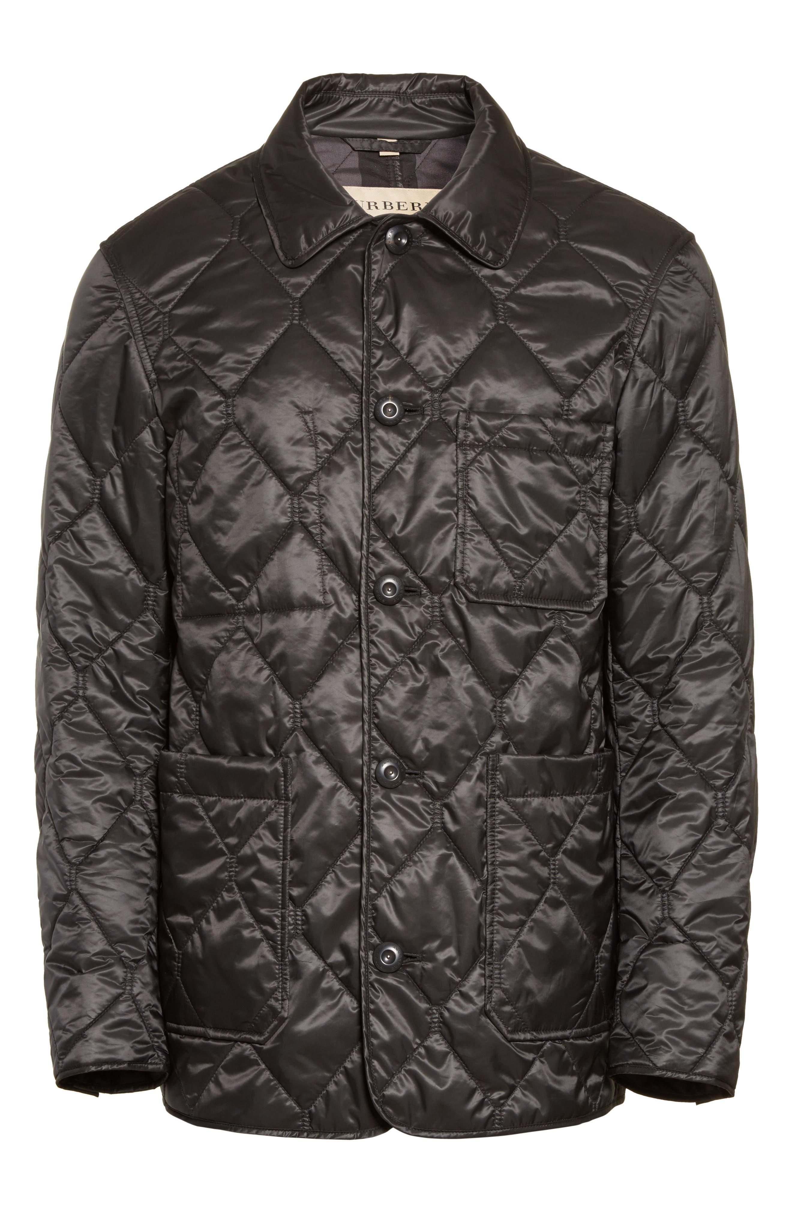 Alternate Image 5  - Burberry Rushton Trim Fit Quilted Jacket