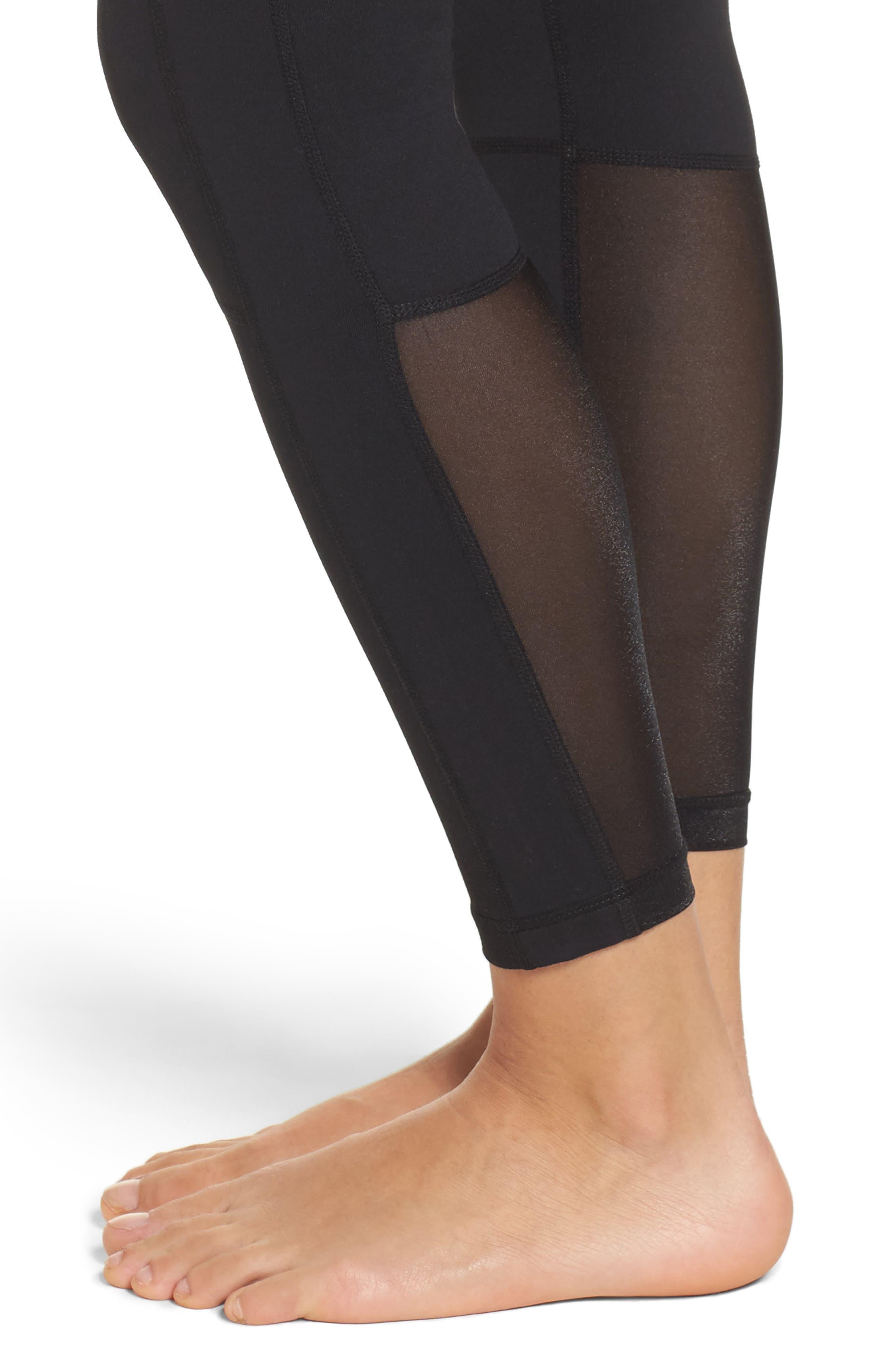 Autumn High Waist Moto Ankle Leggings,                             Alternate thumbnail 4, color,                             Black
