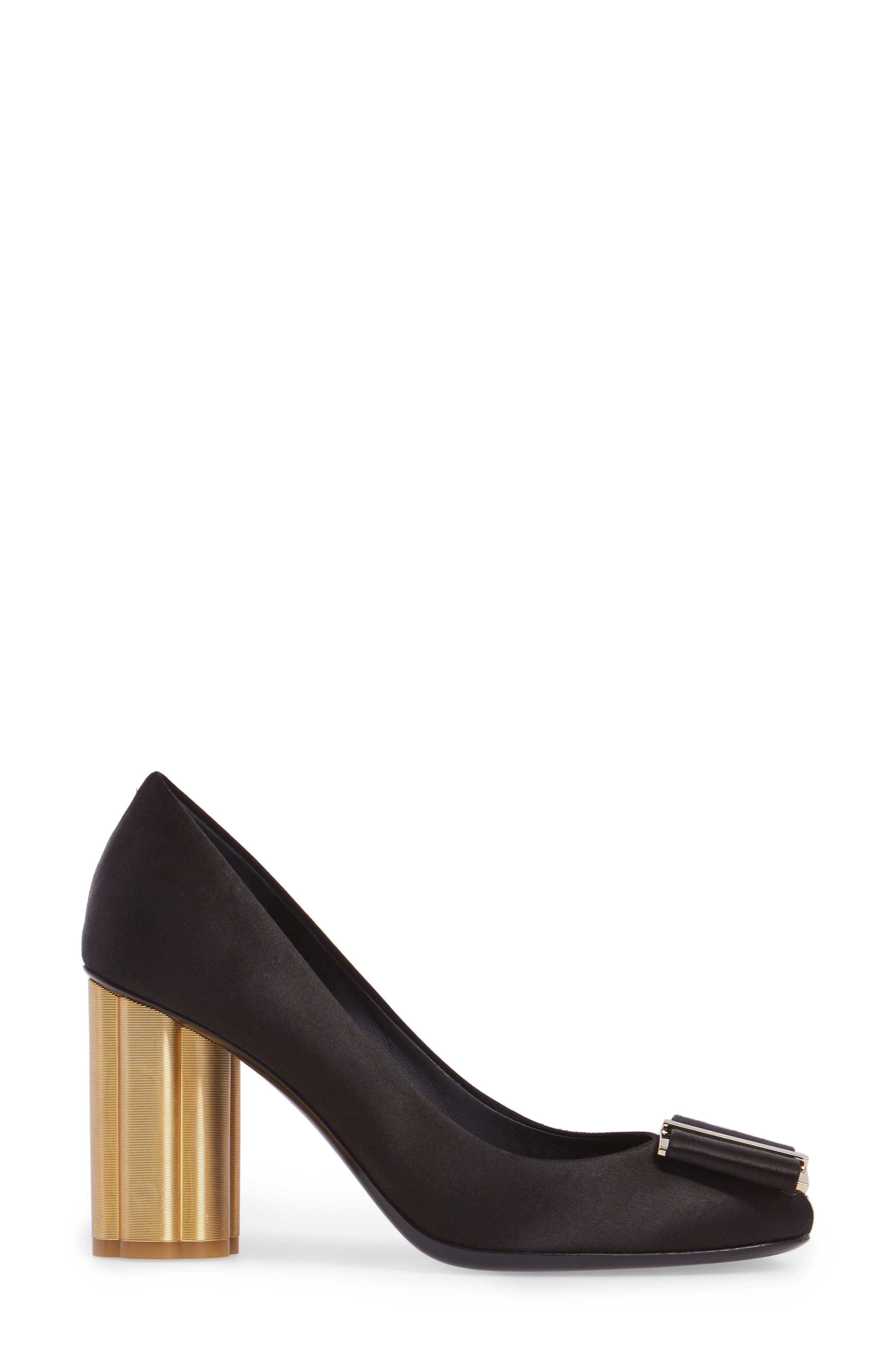 Alternate Image 3  - Salvatore Ferragamo Flower Heel Bow Pump (Women)