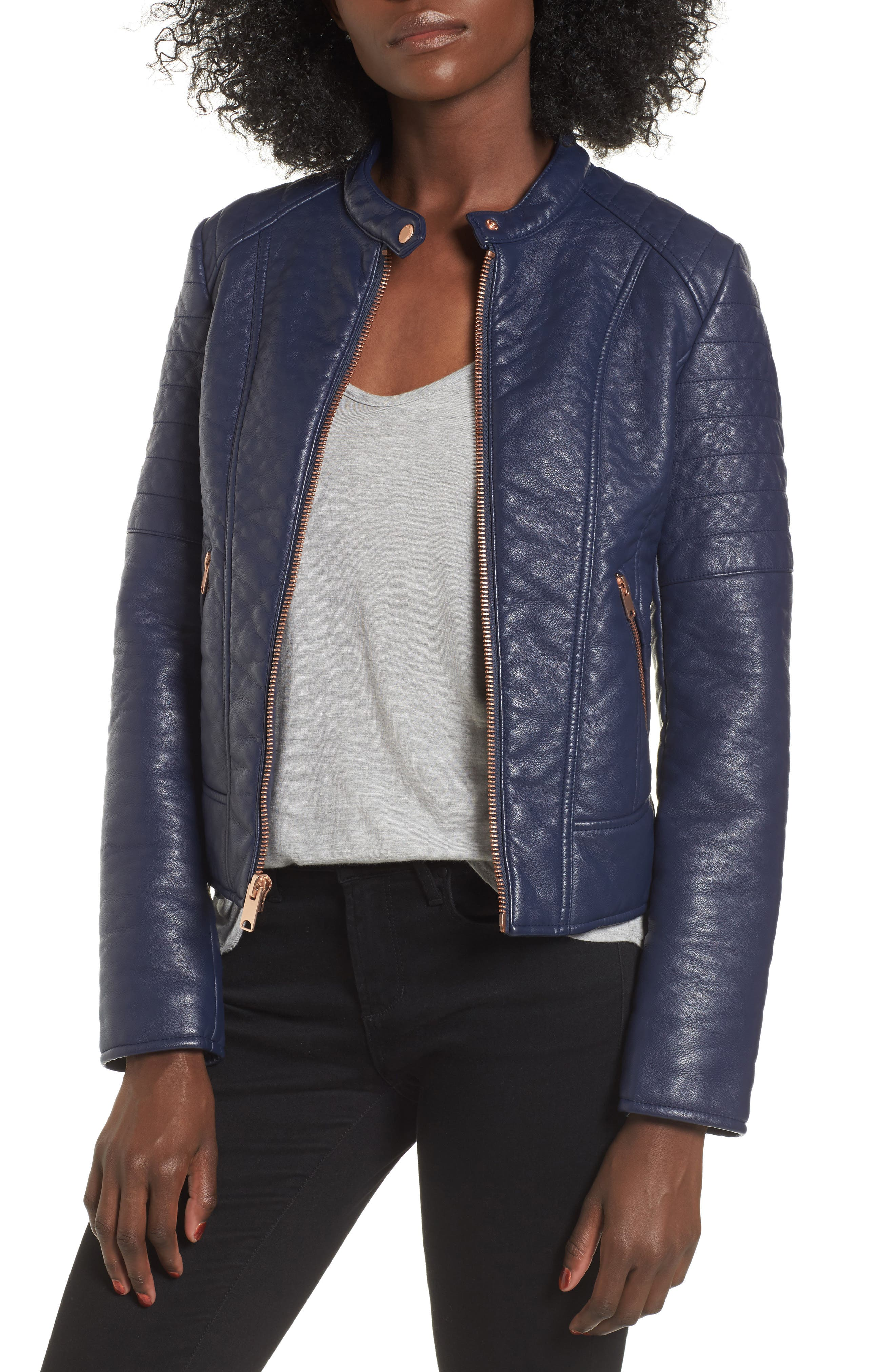 Andrew Marc Blakely Faux Leather Jacket
