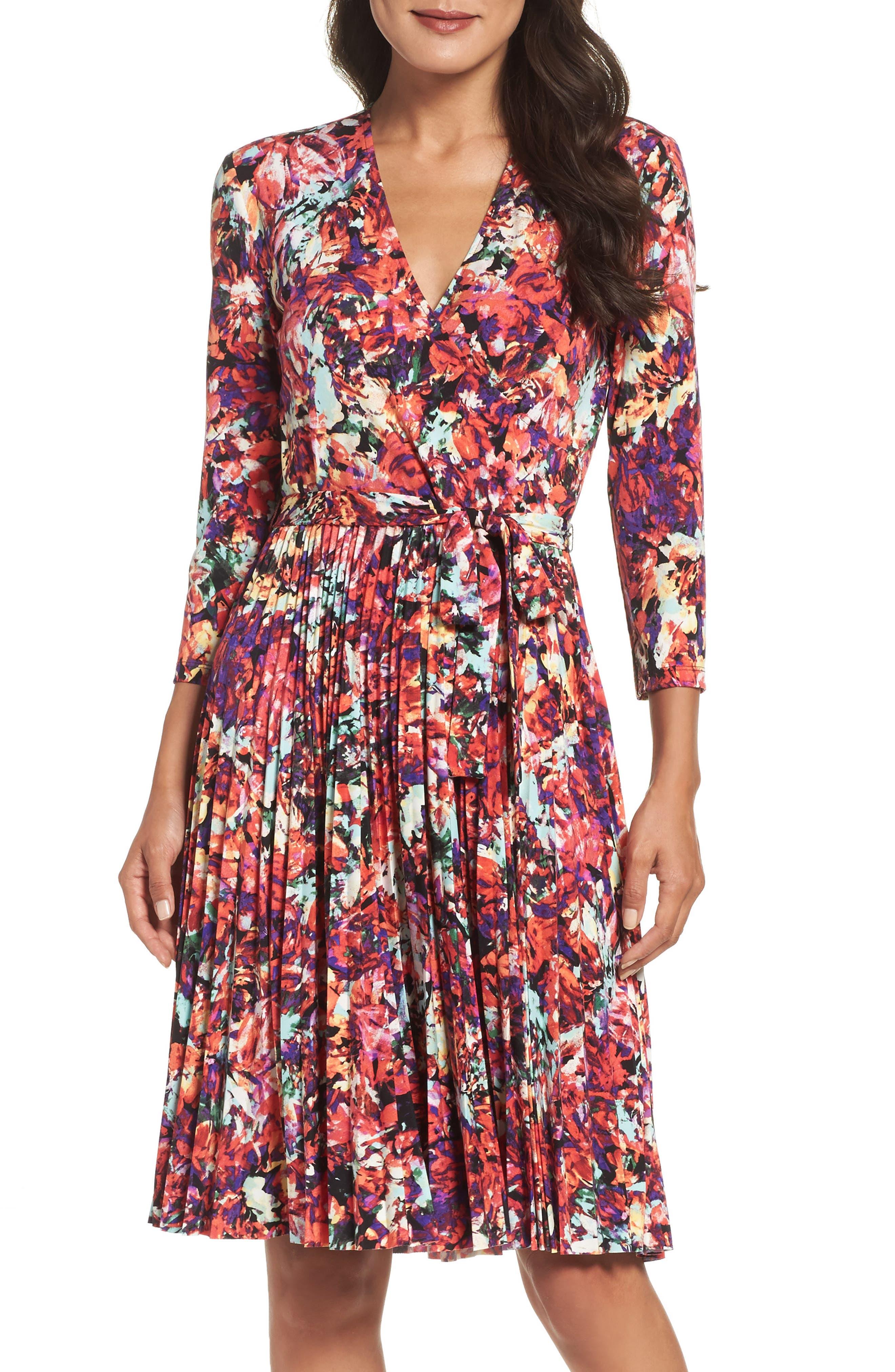Alternate Image 1 Selected - Maggy London Print Fit & Flare Dress (Regular & Petite)
