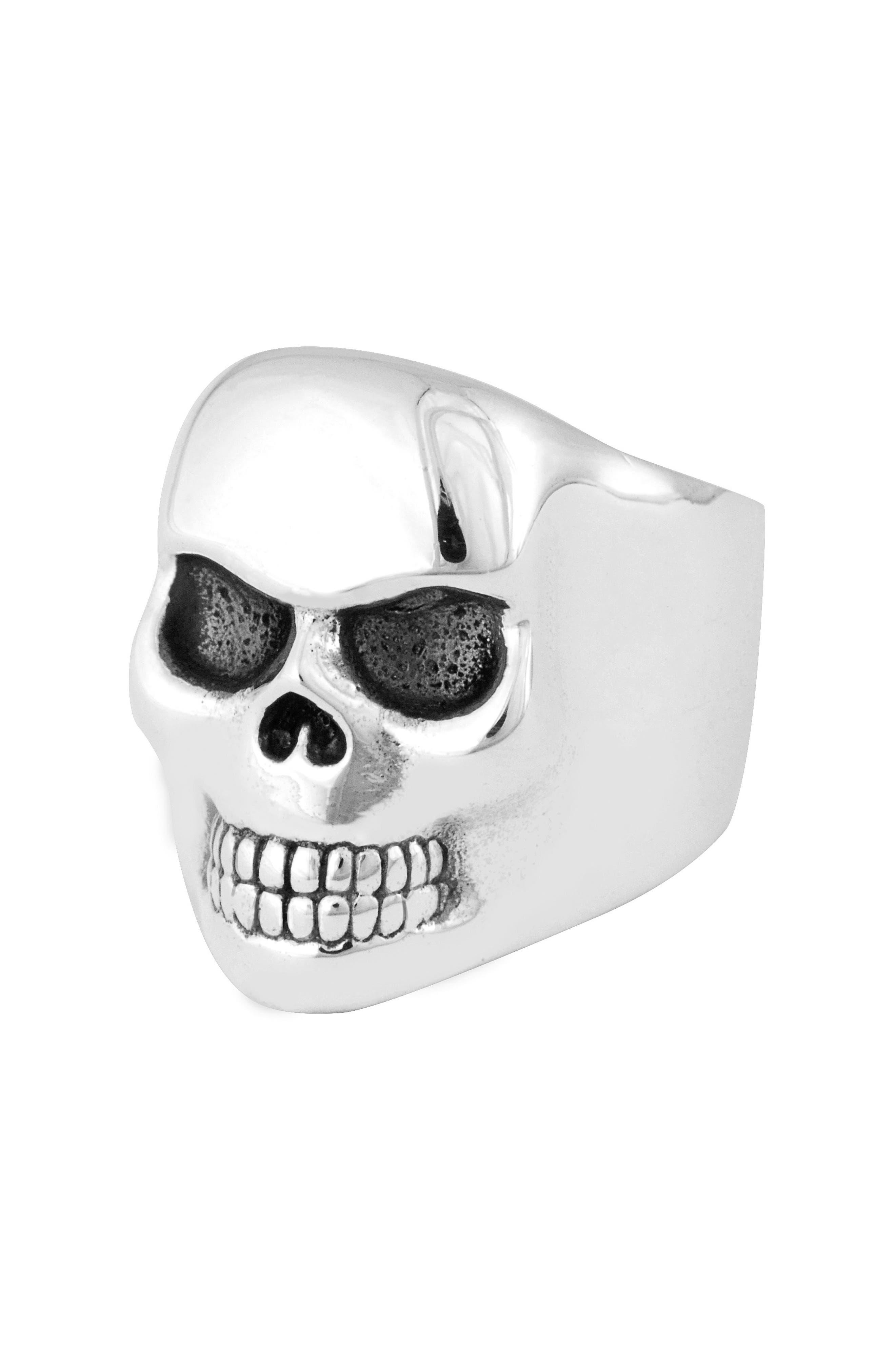 Classic Skull Ring,                             Main thumbnail 1, color,                             Silver