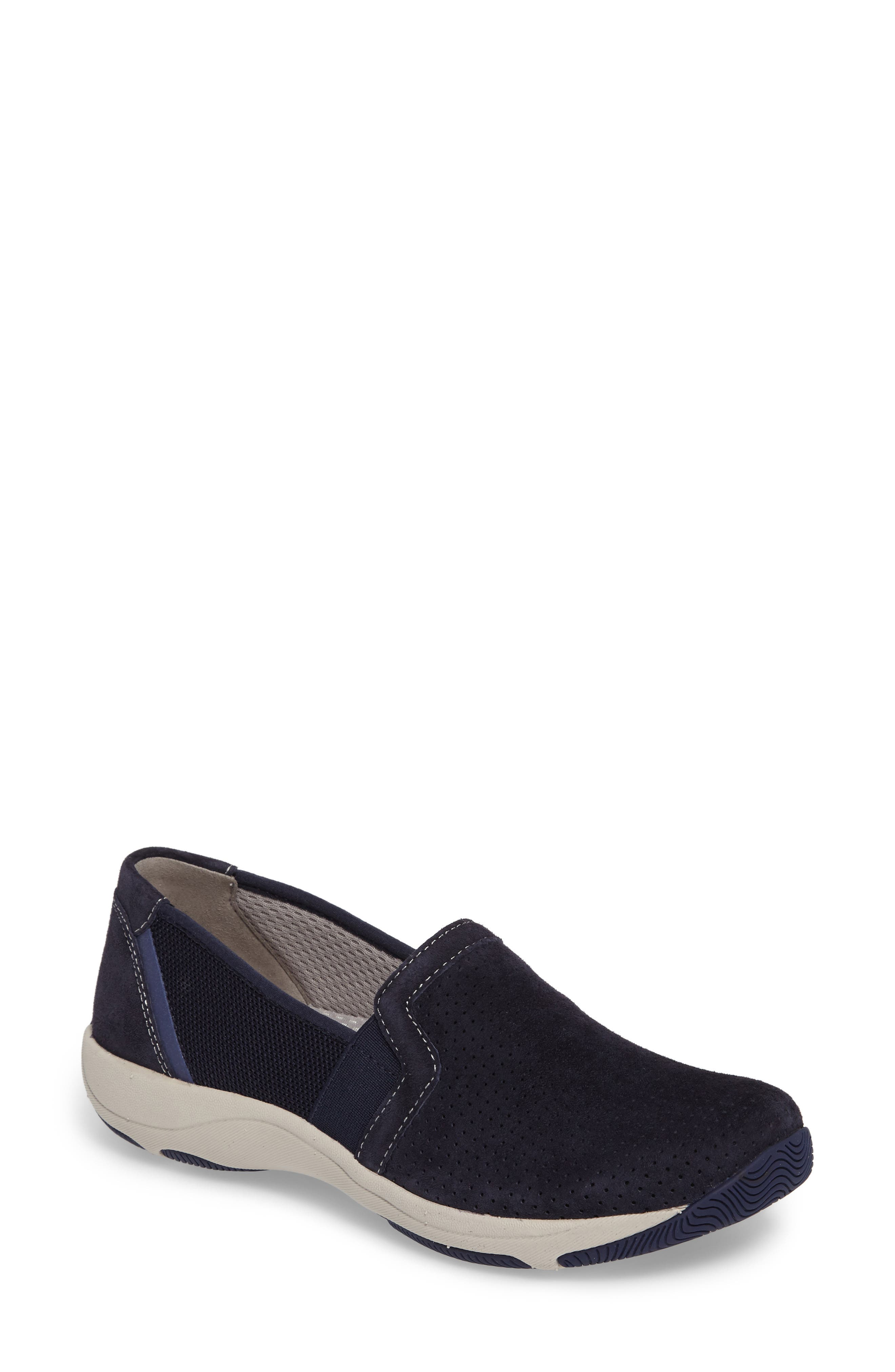 Halifax Collection Halle Slip-On Sneaker,                             Main thumbnail 1, color,                             Navy Suede