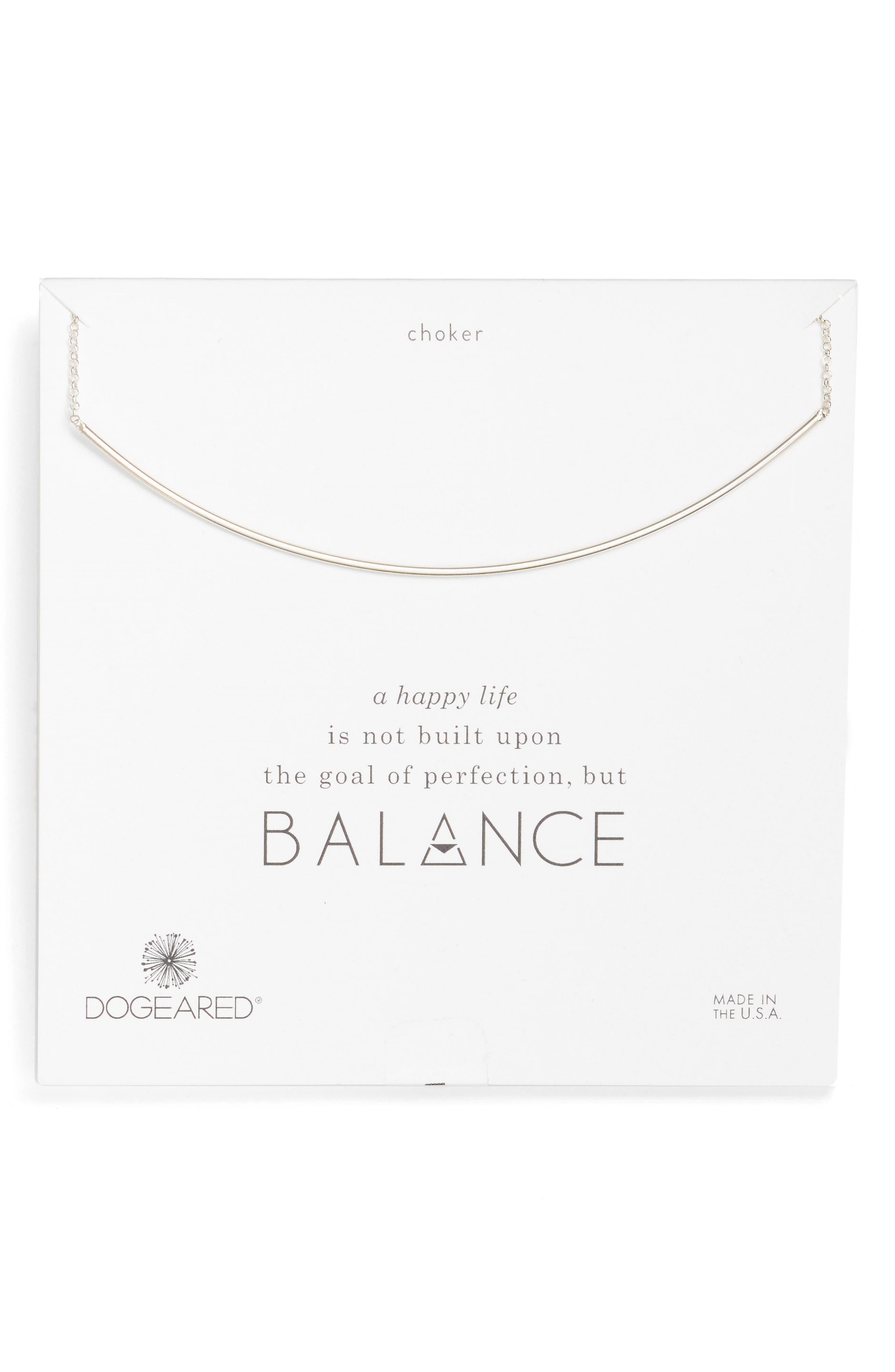 Alternate Image 1 Selected - Dogeared Balance Bar Choker Necklace