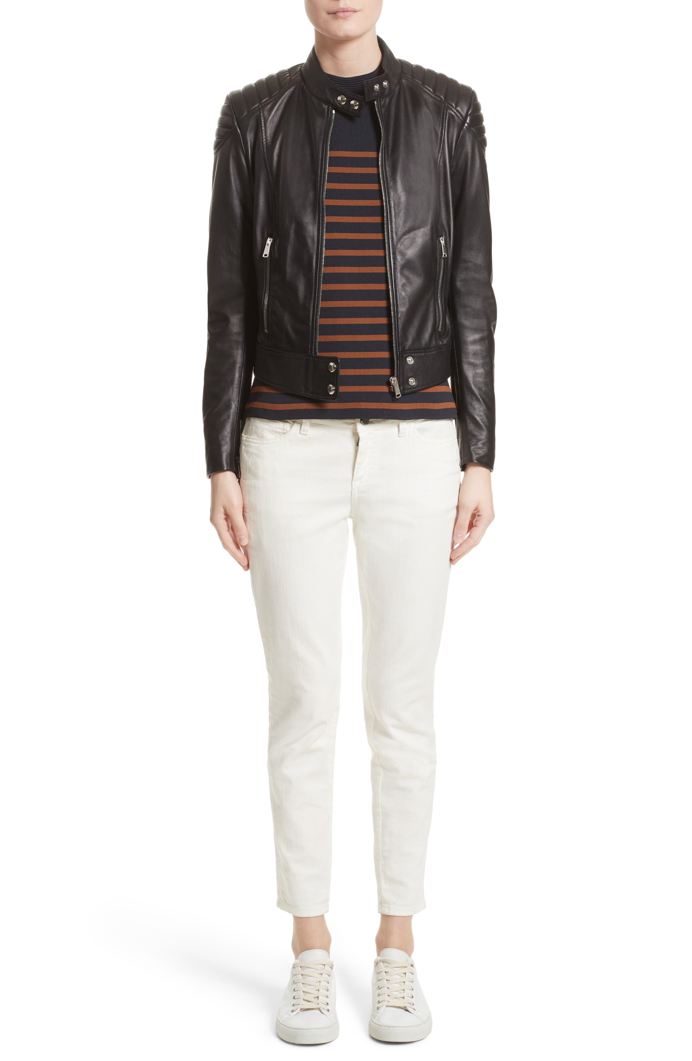 Selicia Stripe Sweater,                             Alternate thumbnail 7, color,                             Black