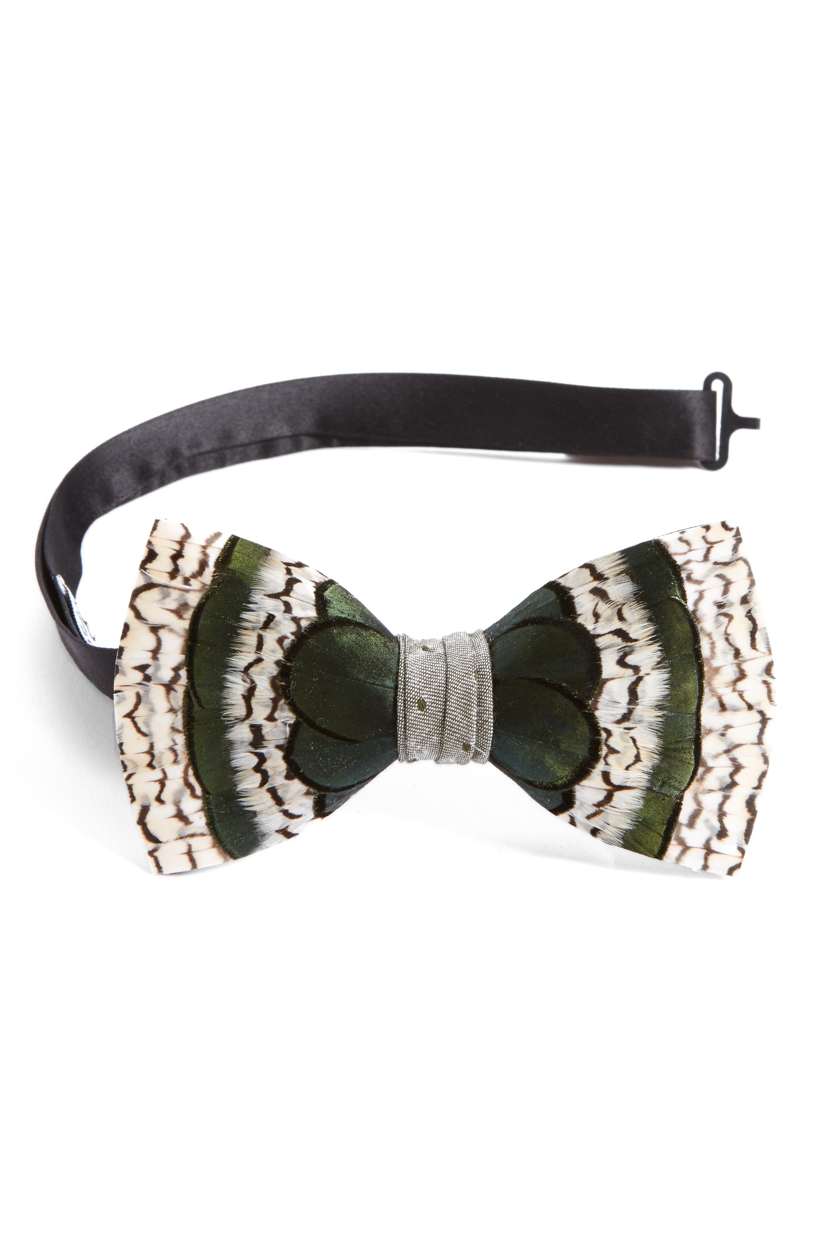 Brackish & Bell Peck Feather Bow Tie