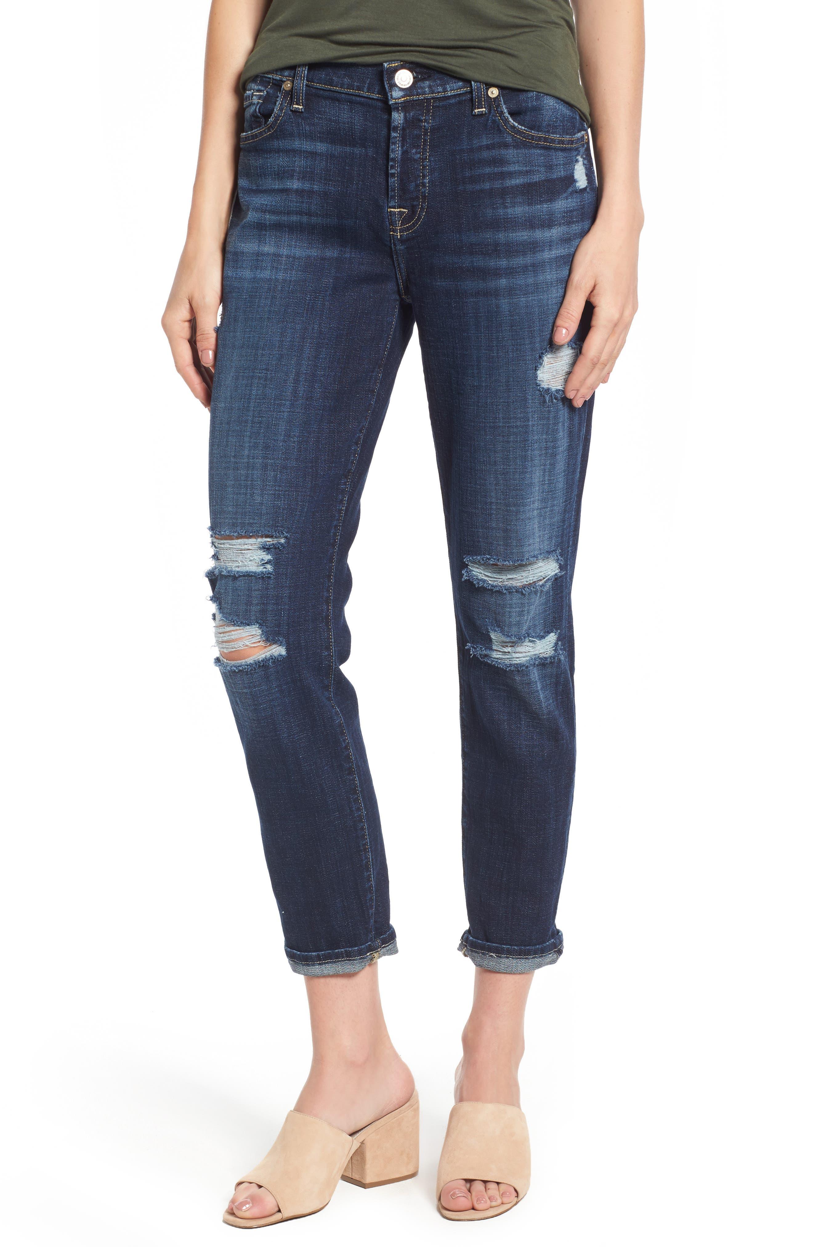 Josefina Boyfriend Jeans,                         Main,                         color, Majestic Broken Twill