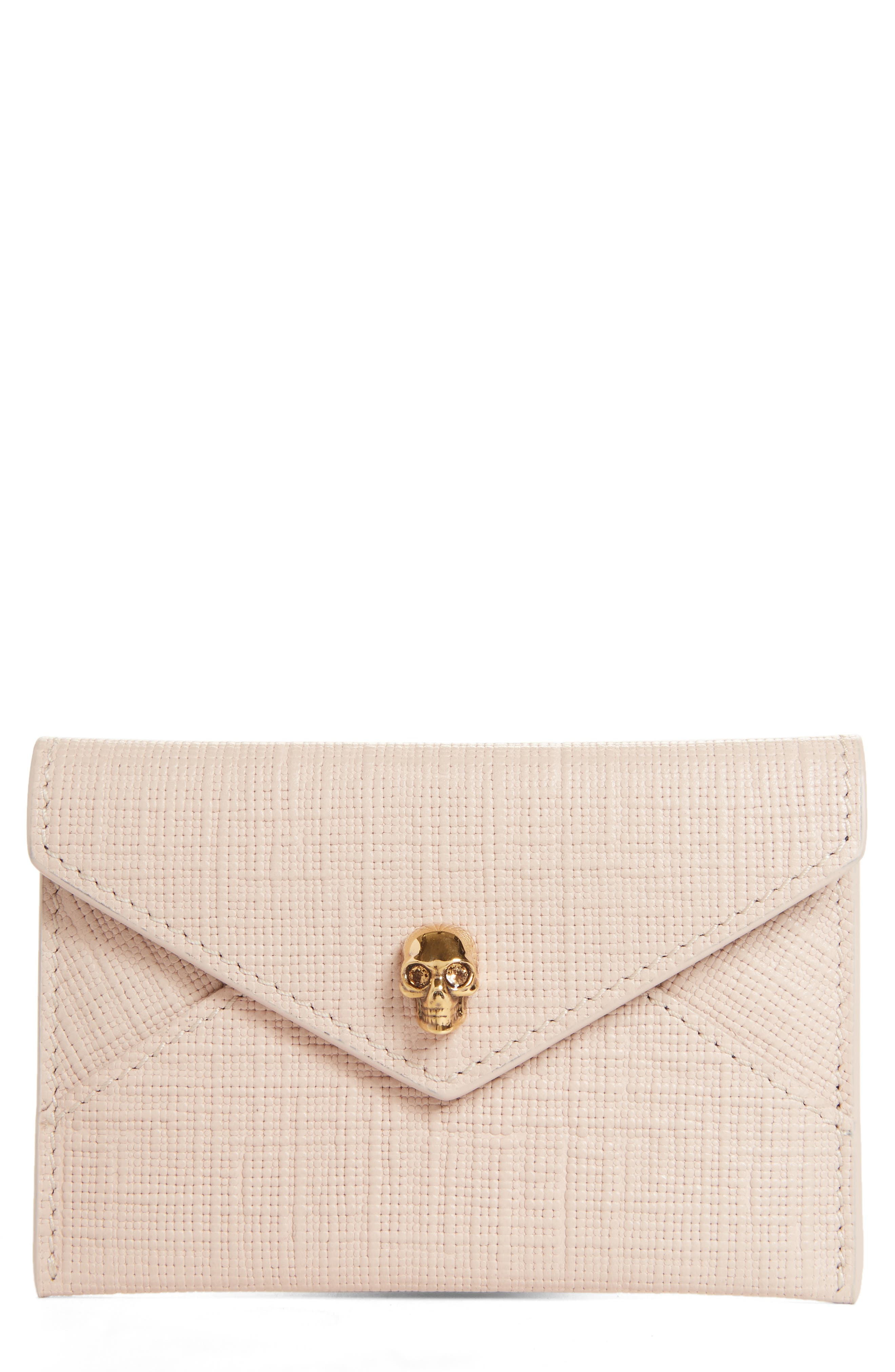 ALEXANDER MCQUEEN Embossed Leather Envelope Card Case