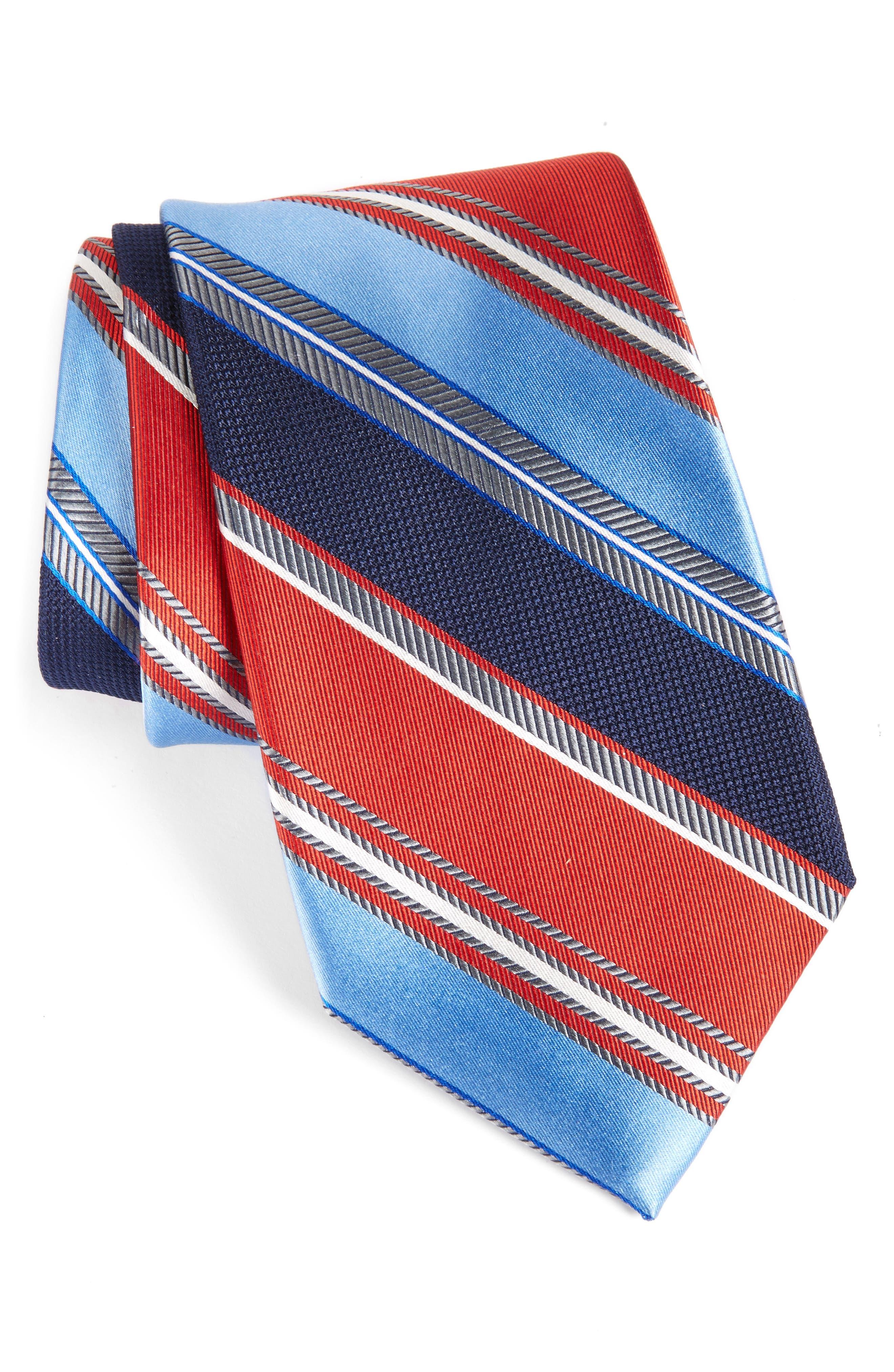 NORDSTROM MENS SHOP Regal Stripe Silk Tie