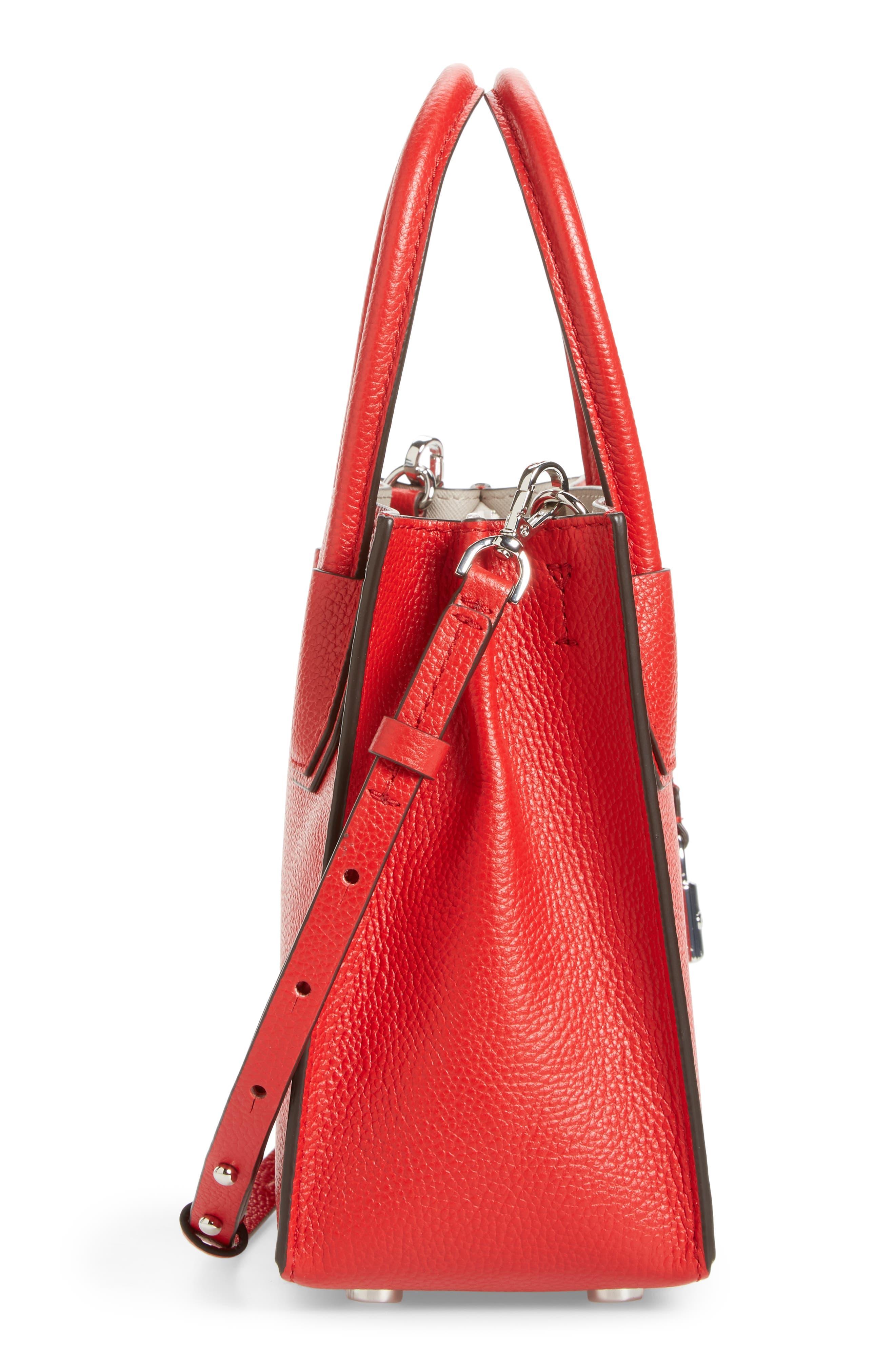 Alternate Image 5  - MICHAEL Michael Kors Mercer Leather Crossbody Bag
