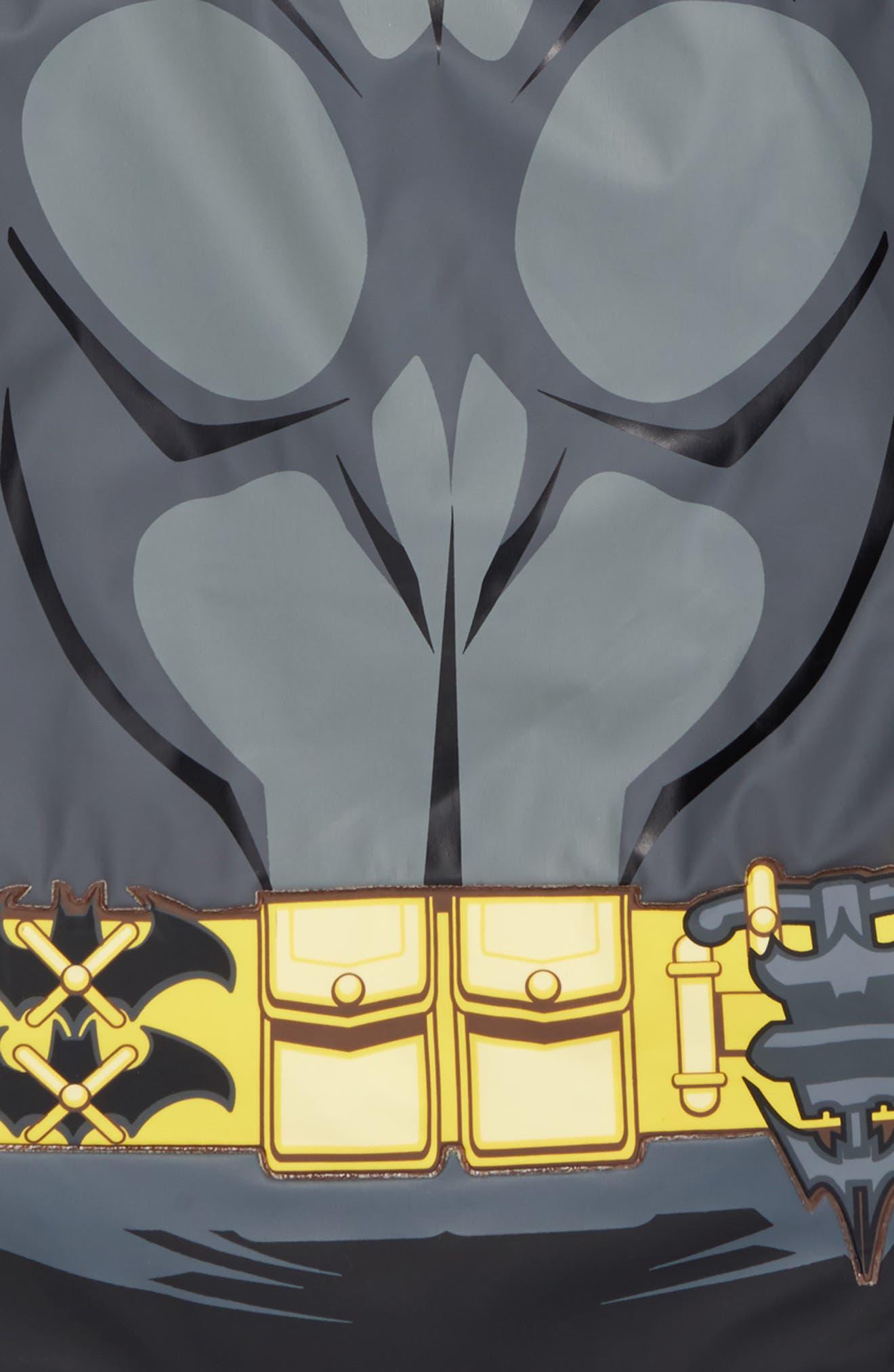 Batman Everlasting Hooded Raincoat,                             Alternate thumbnail 4, color,                             Black