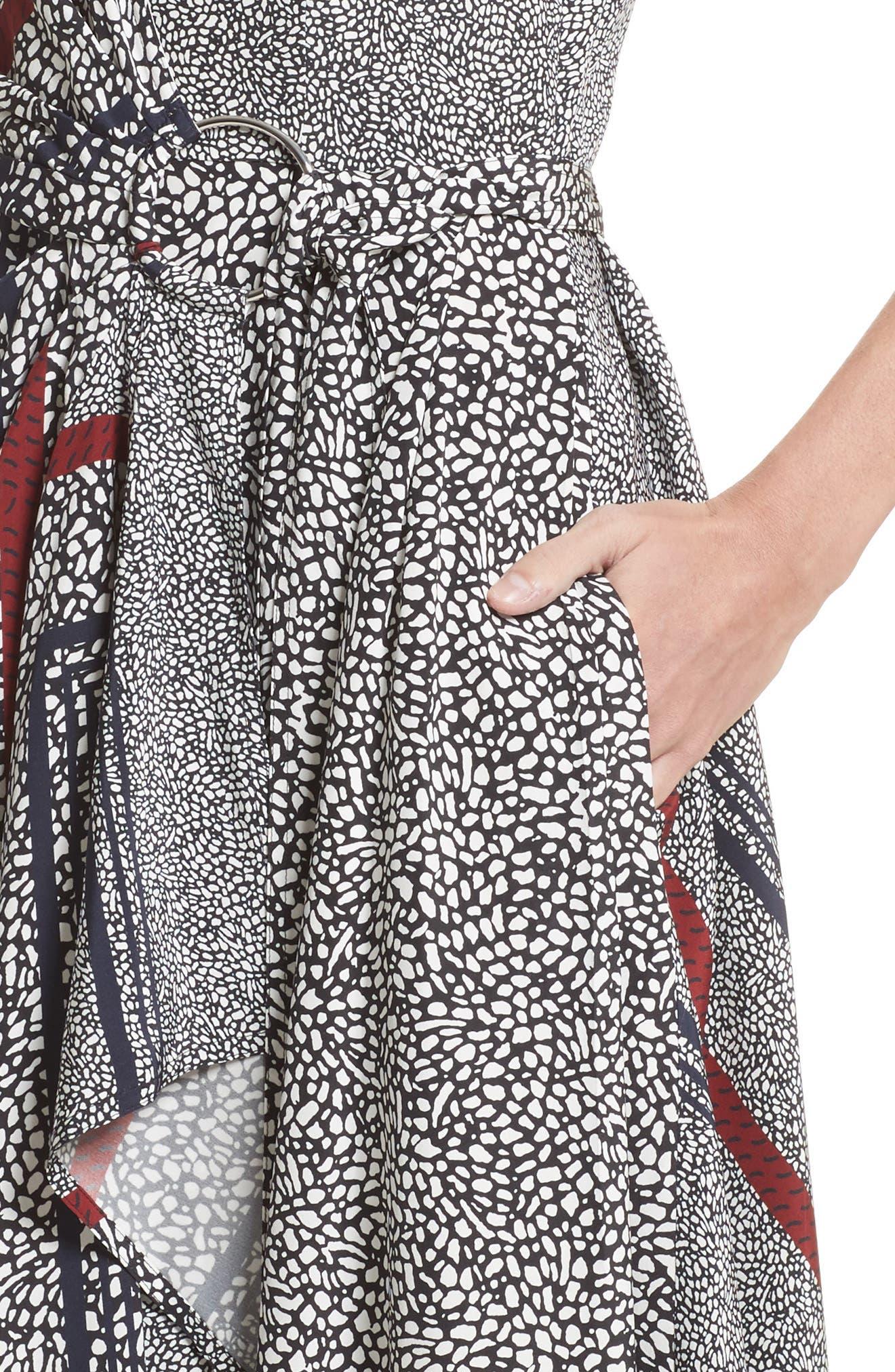 Alternate Image 4  - Derek Lam 10 Crosby Print Pleated Silk Wrap Dress