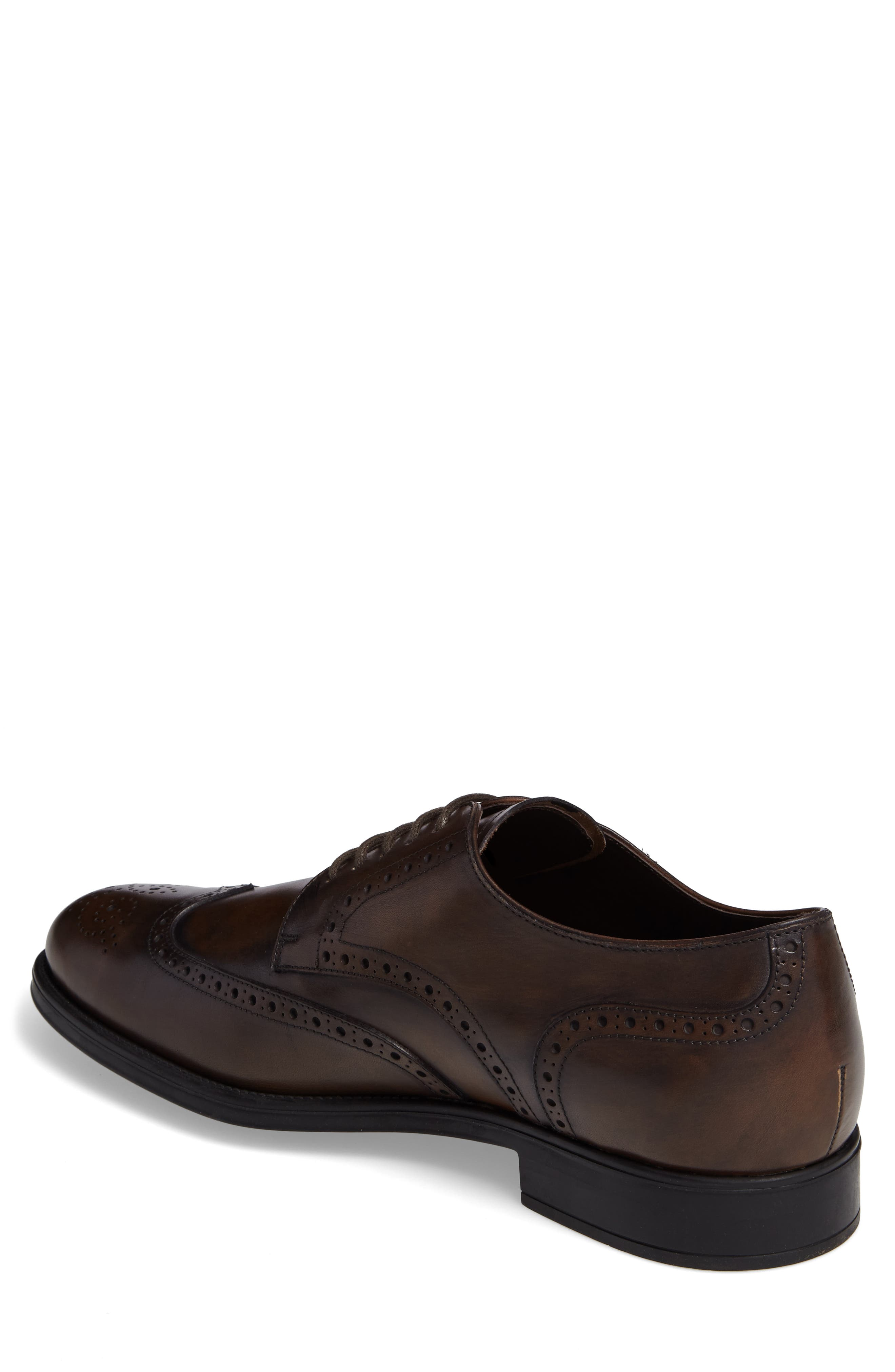 Wingtip,                             Alternate thumbnail 2, color,                             Brown Leather