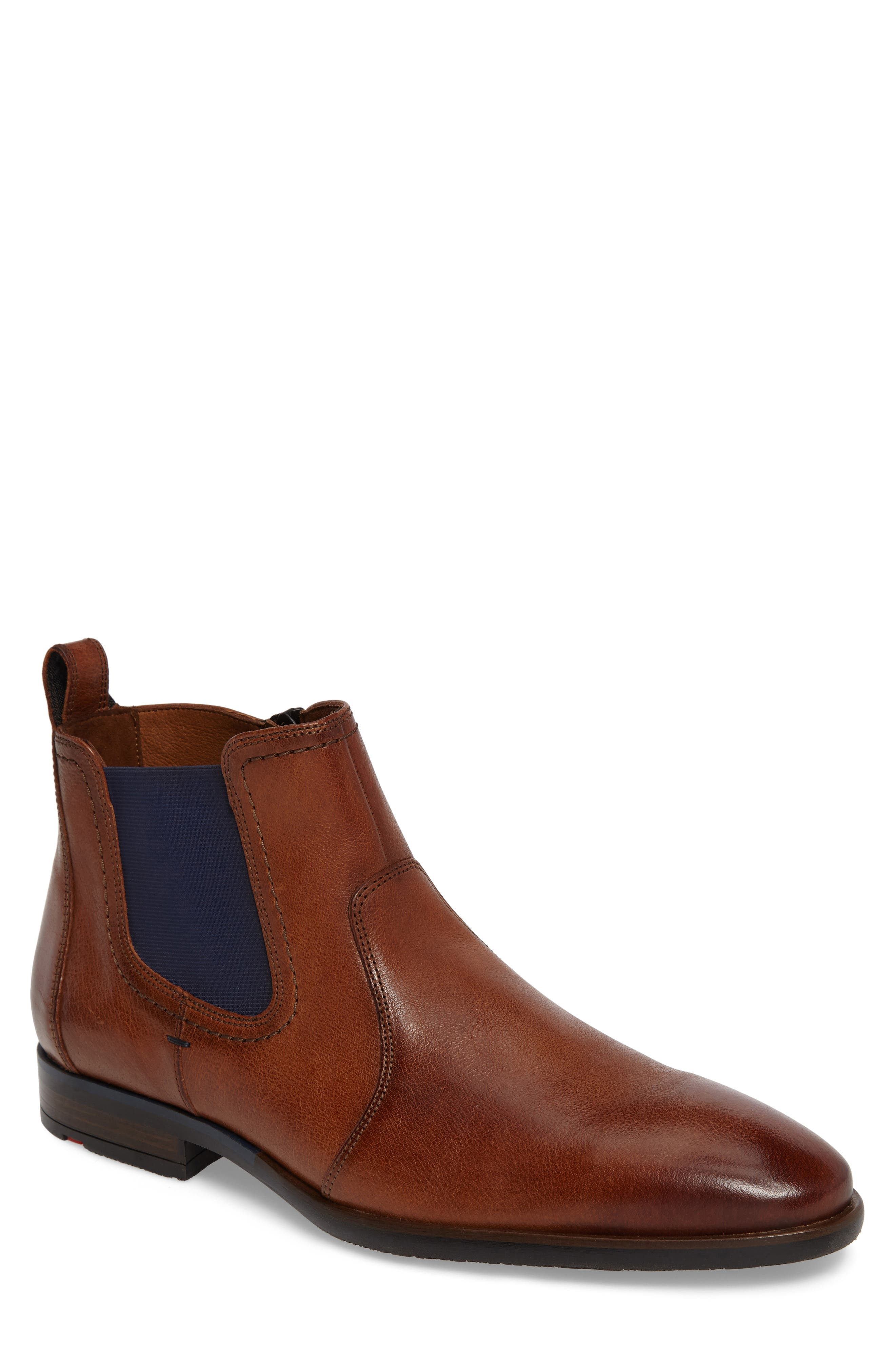 Dylan Chelsea Boot,                             Main thumbnail 1, color,                             Brown Leather