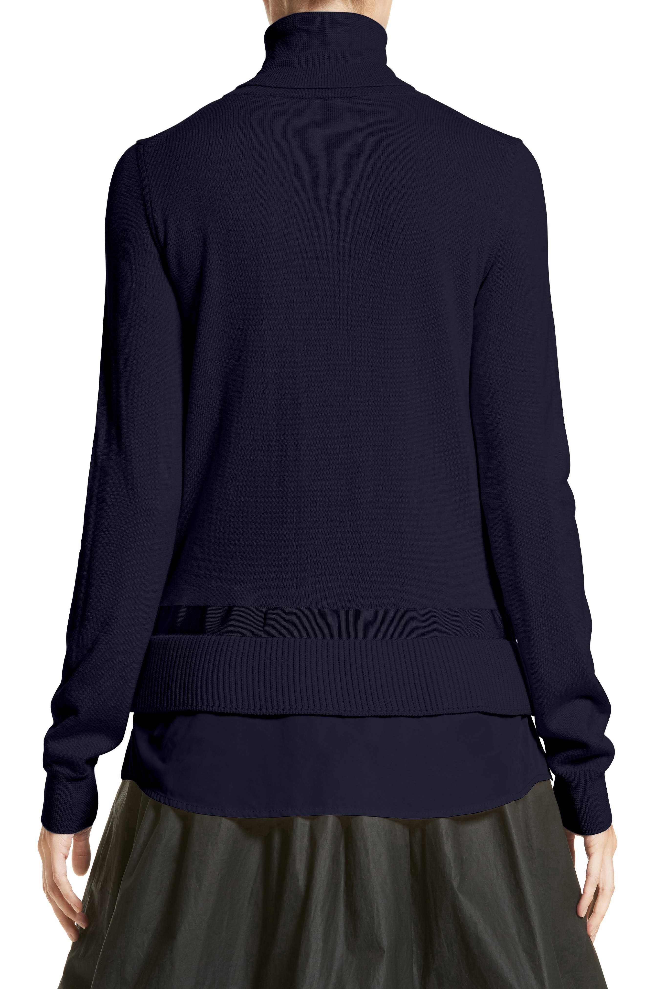 Alternate Image 2  - Moncler Ciclista Tricot Knit Wool Turtleneck Sweater