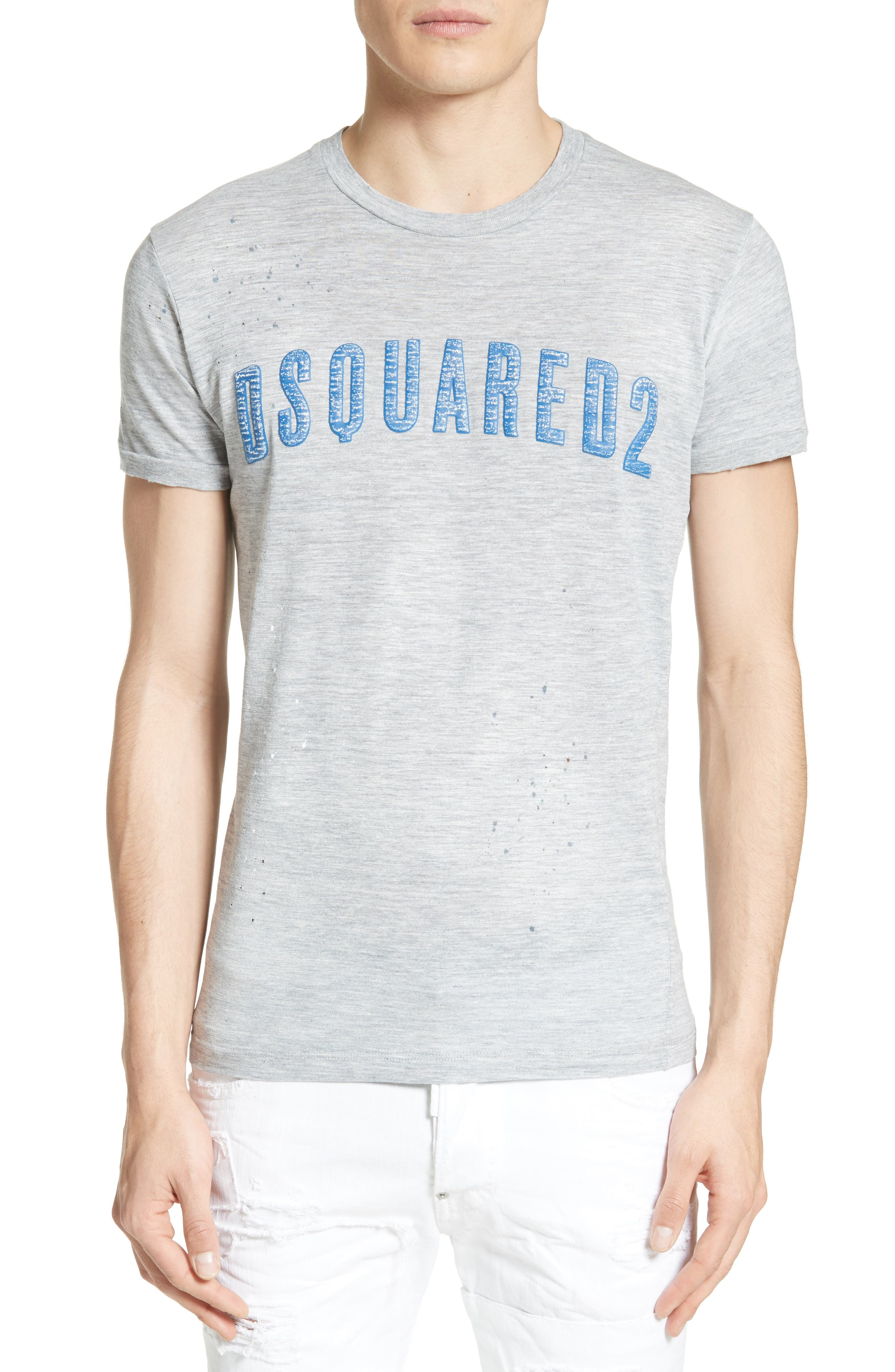 Logo Graphic T-Shirt,                         Main,                         color, Grey/ Blue