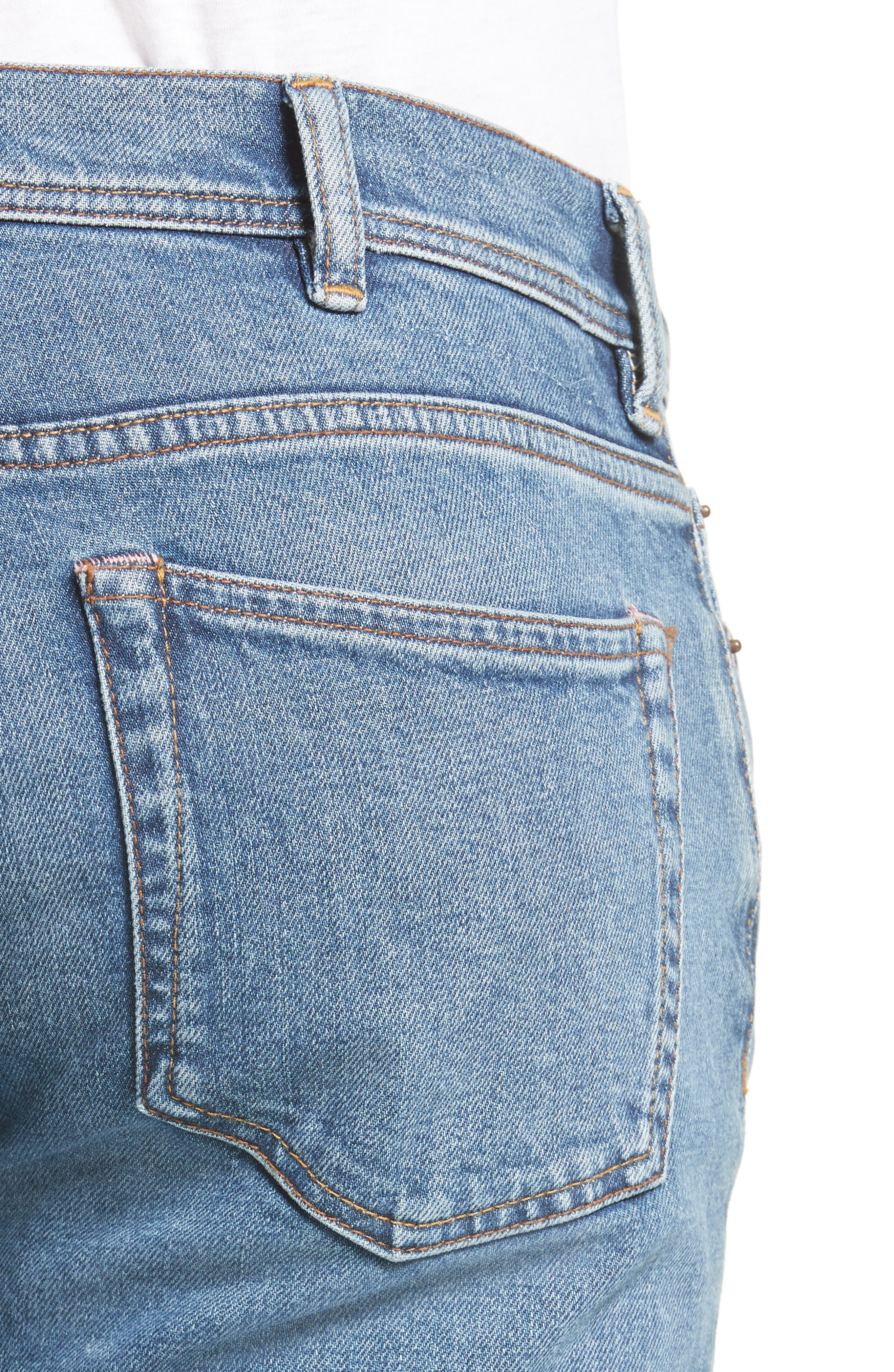 North Skinny Jeans,                             Alternate thumbnail 4, color,                             Mid Blue
