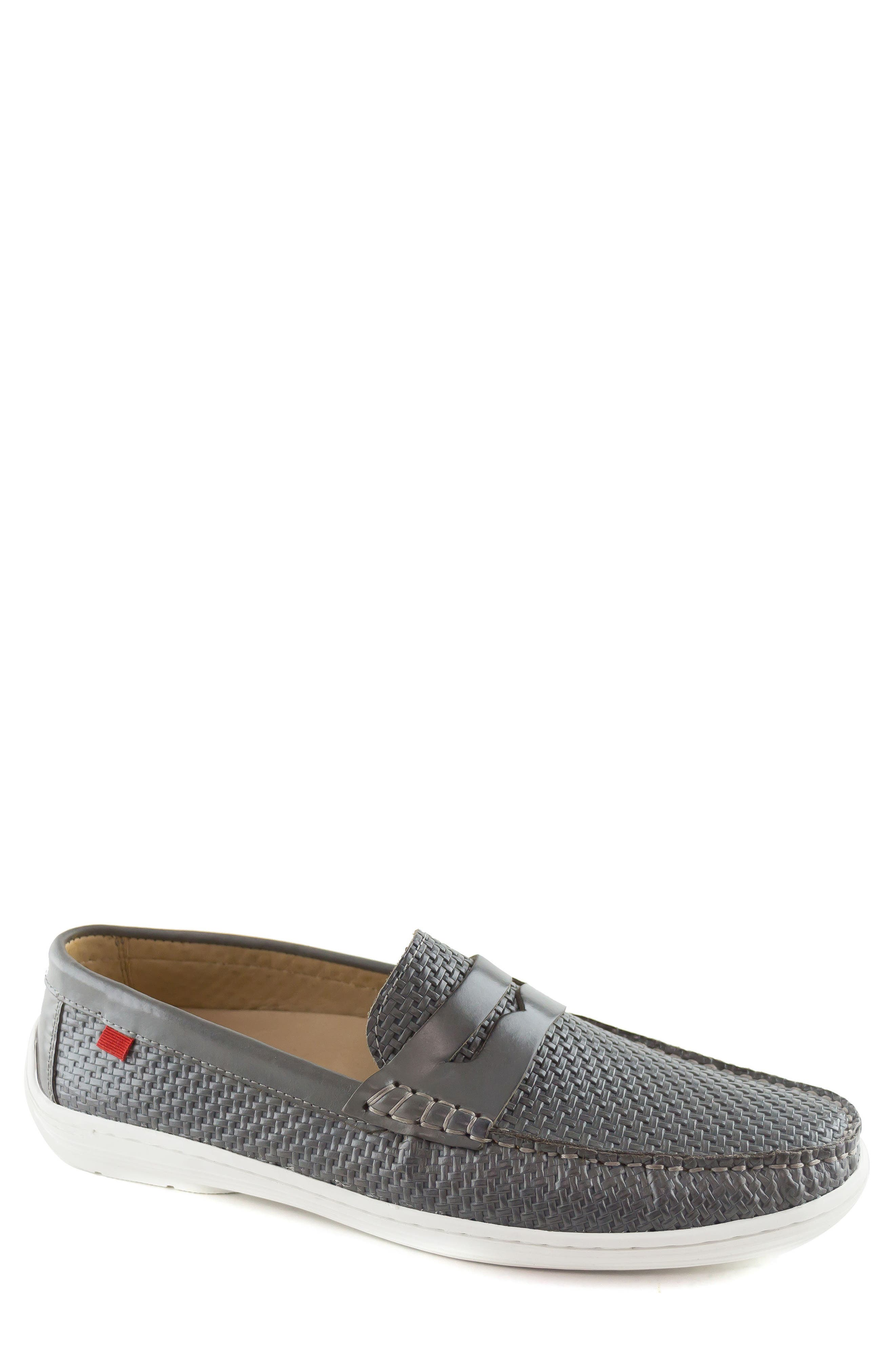 Atlantic Penny Loafer,                             Main thumbnail 1, color,                             Grey Leather