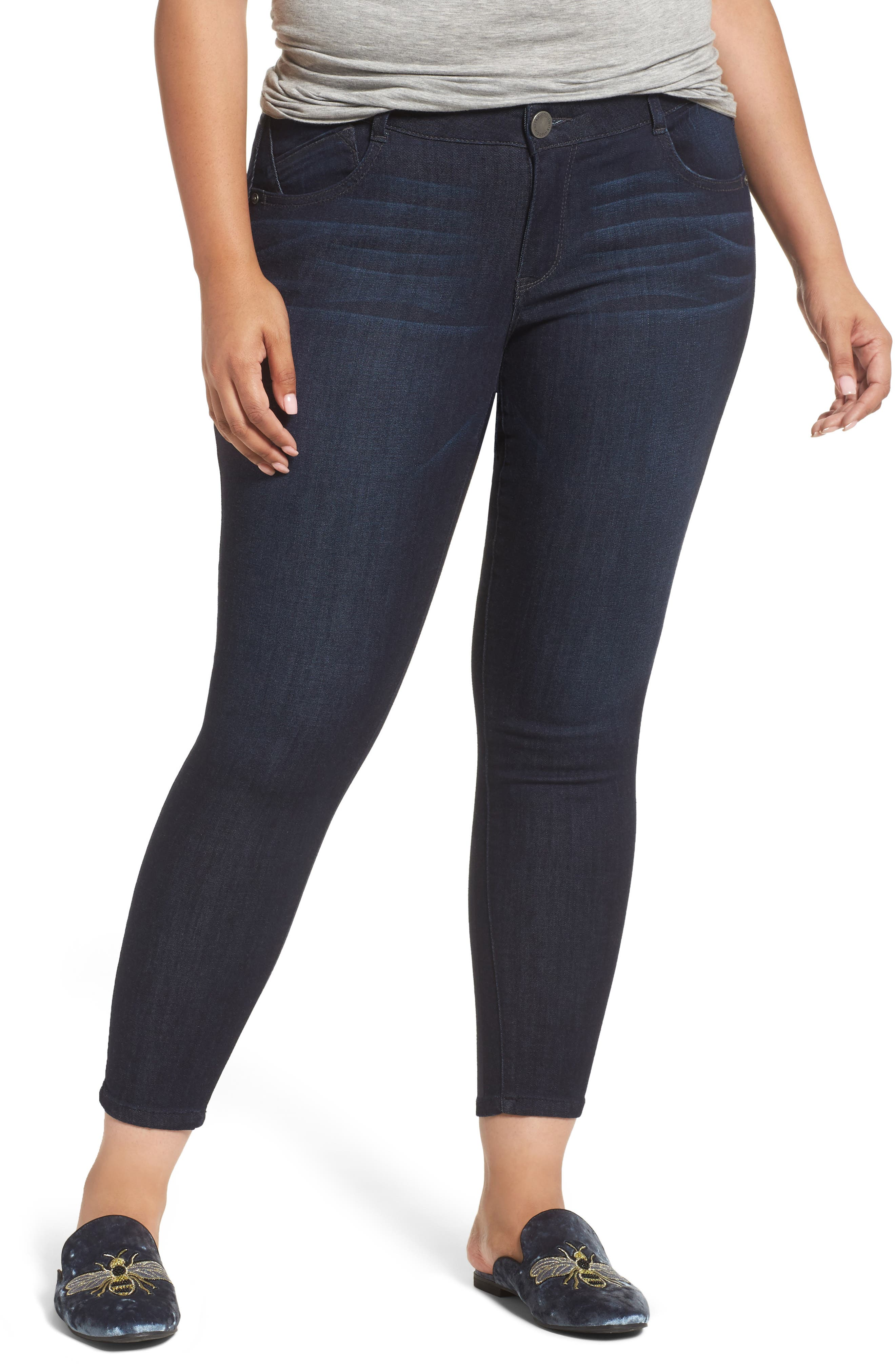 Alternate Image 1 Selected - Wit & Wisdom Ab-solution Ankle Skimmer Jeans (Plus Size) (Nordstrom Exclusive)