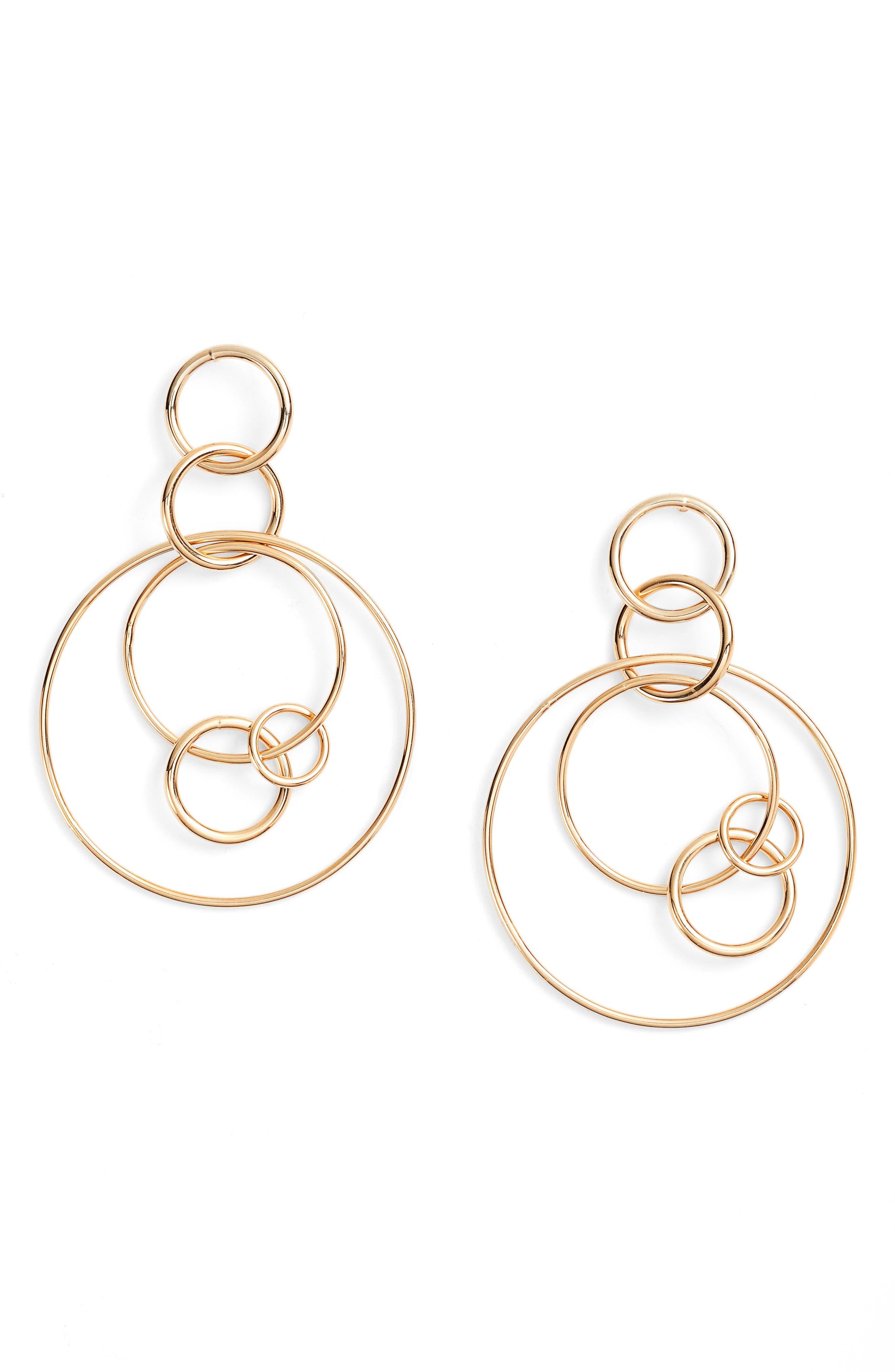 Halogen® Multi Hoop Drop Earrings